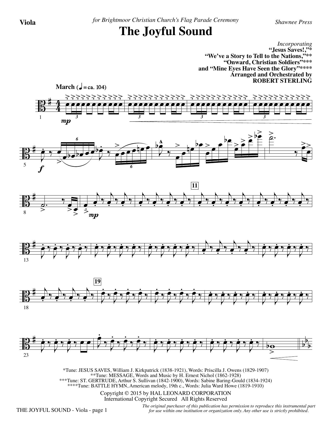 The Joyful Sound - Viola (Choir Instrumental Pak)
