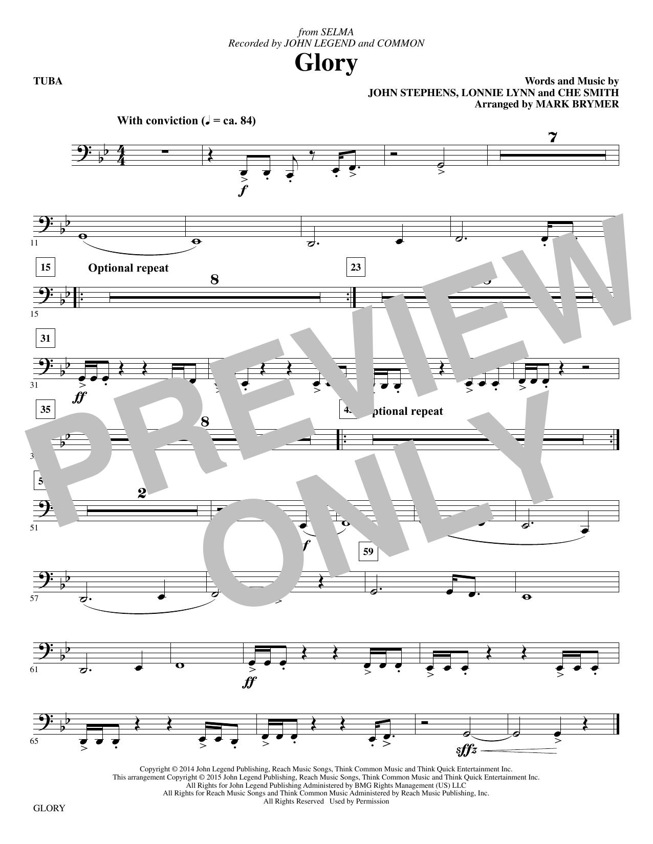 Glory - Tuba Sheet Music