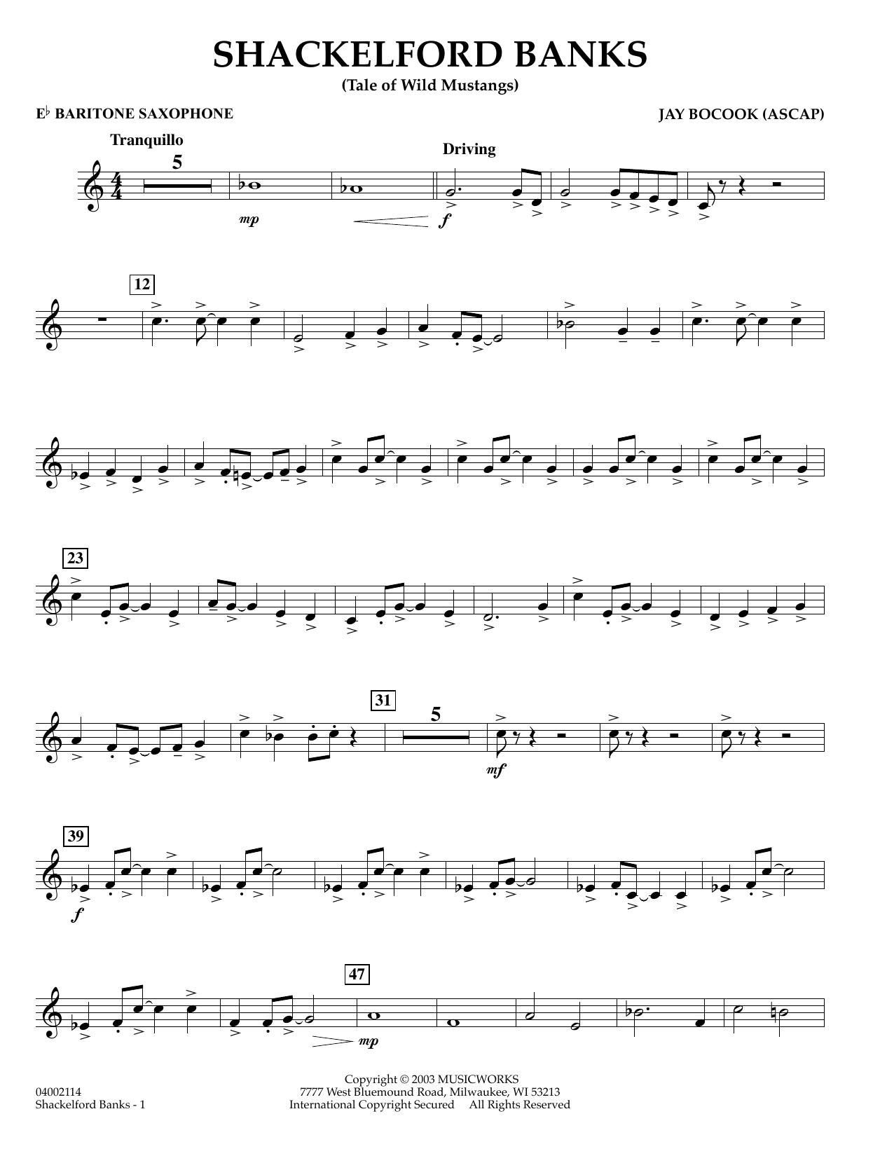 Shackelford Banks - Eb Baritone Saxophone (Concert Band)