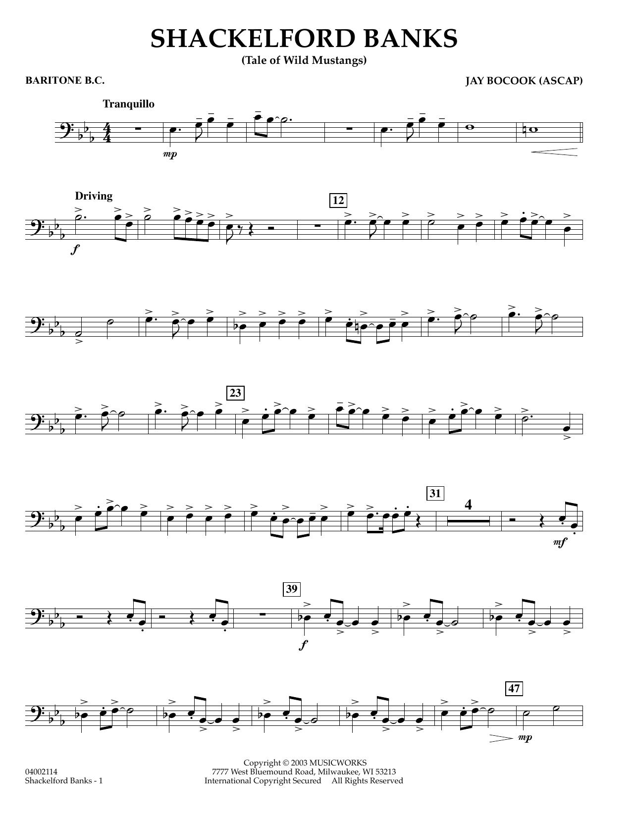 Shackelford Banks - Baritone B.C. (Concert Band)