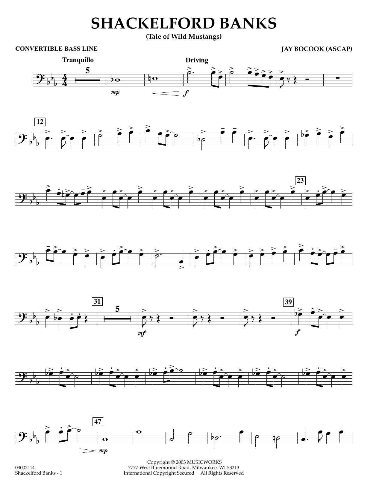 Shackelford Banks - Convertible Bass Line (Concert Band)