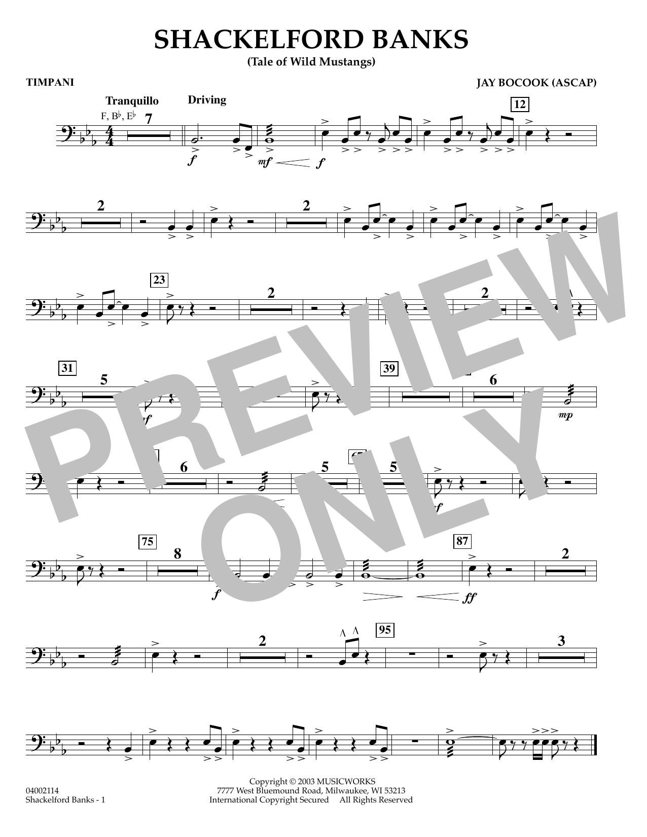 Shackelford Banks - Timpani (Concert Band)
