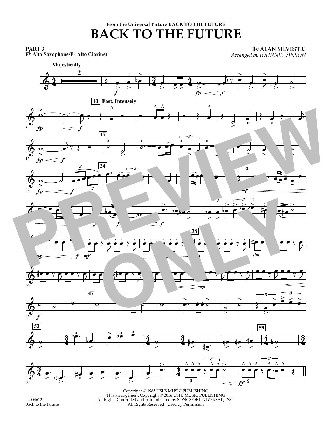 page one of Back to the Future (Main Theme) - Pt.3 - Eb Alto Sax/Alto Clar.ASALTTEXT