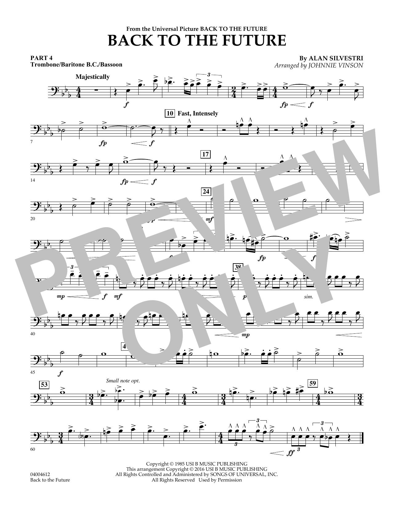 Back to the Future (Main Theme) - Pt.4 - Trombone/Bar. B.C./Bsn. (Flex-Band)