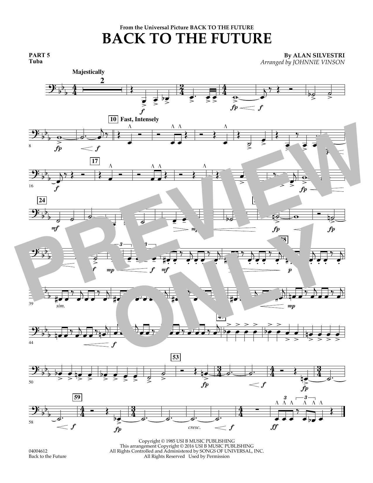 page one of Back to the Future (Main Theme) - Pt.5 - TubaASALTTEXT