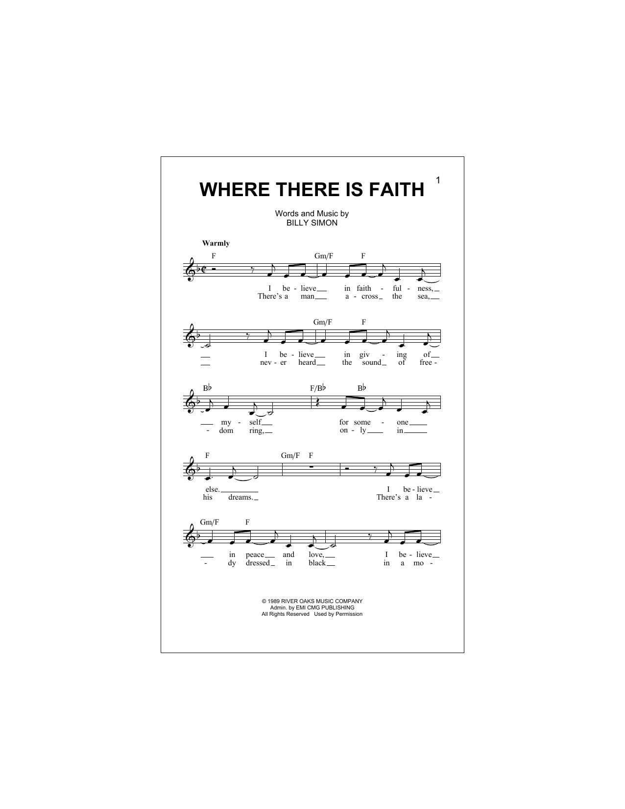 Where There Is Faith (Lead Sheet / Fake Book)