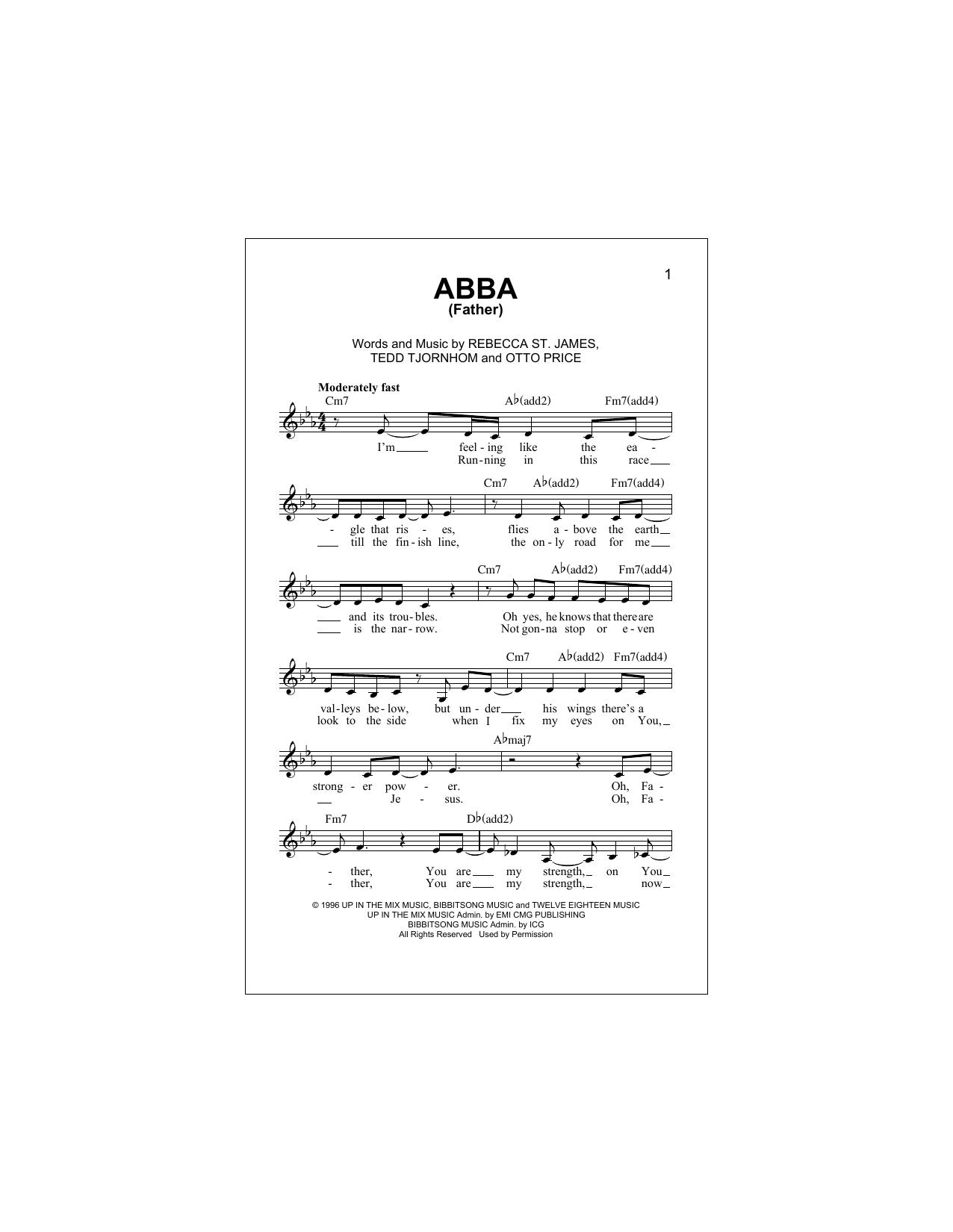 Abba (Father) (Lead Sheet / Fake Book)