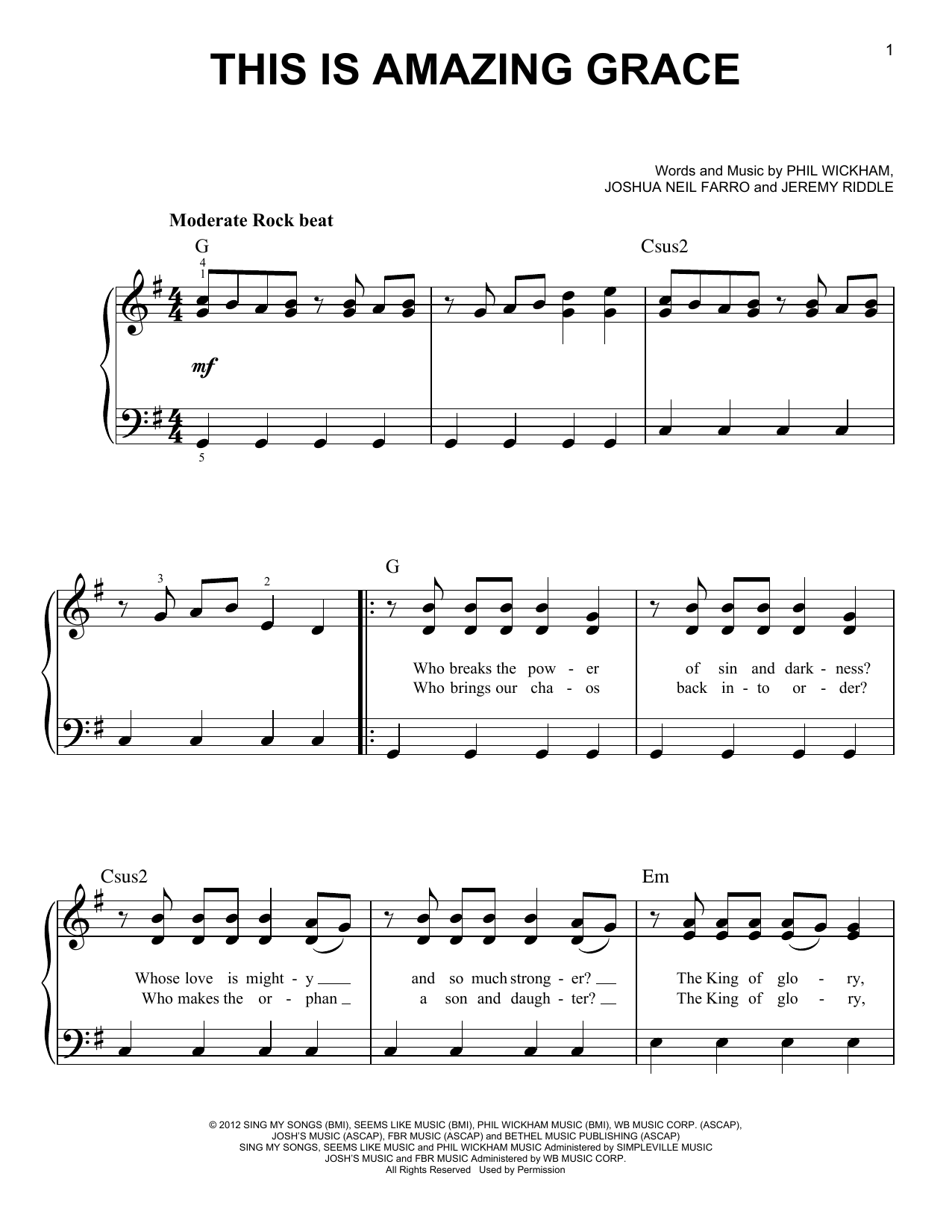 This Is Amazing Grace Sheet Music