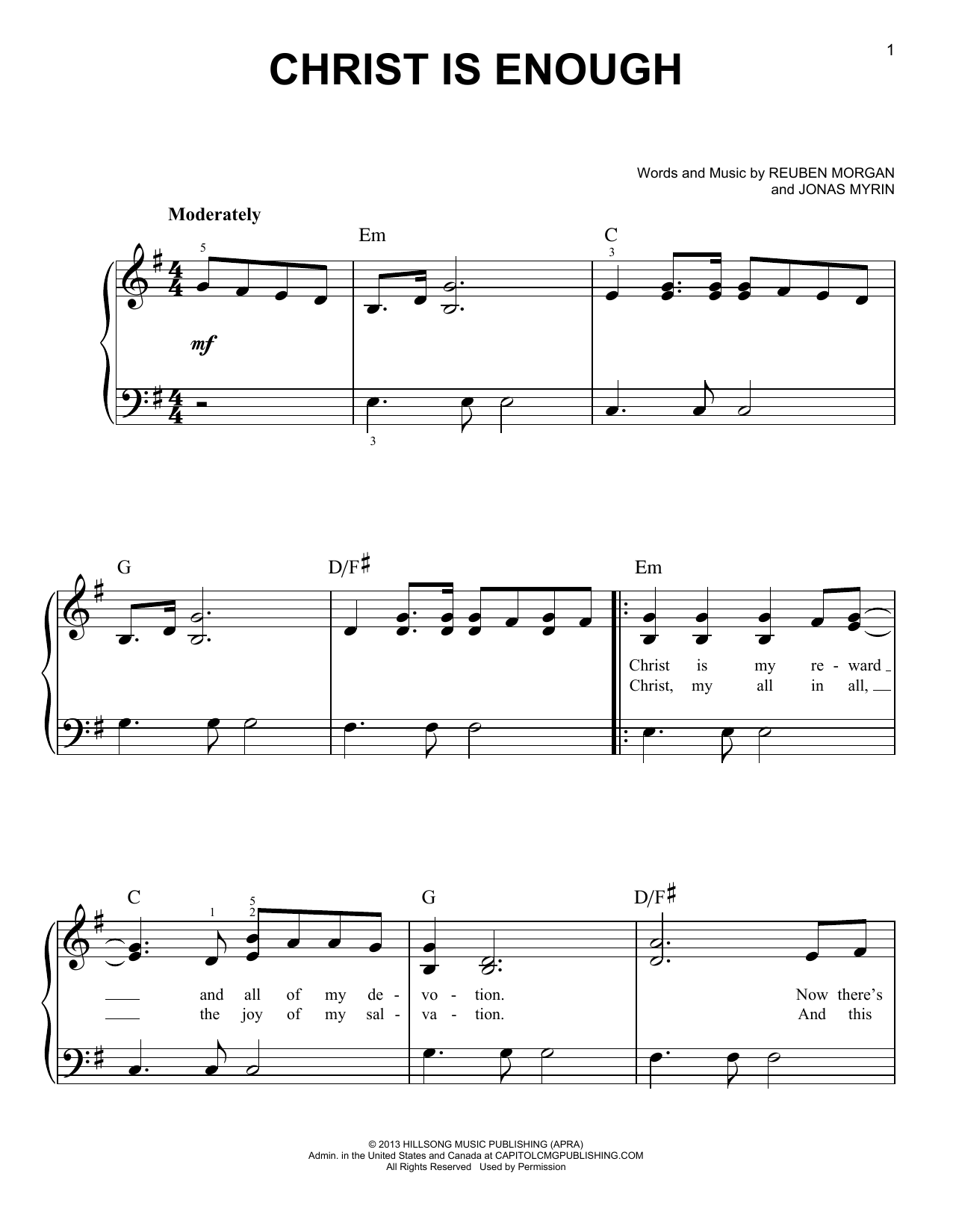 Christ Is Enough Sheet Music