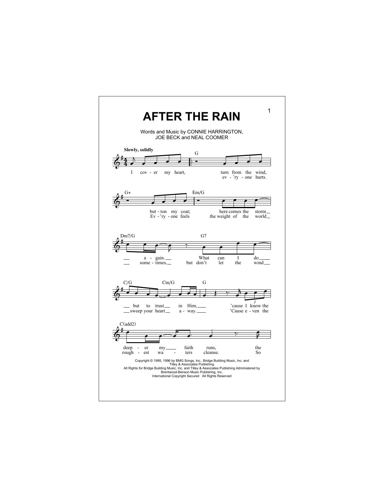 After The Rain (Lead Sheet / Fake Book)