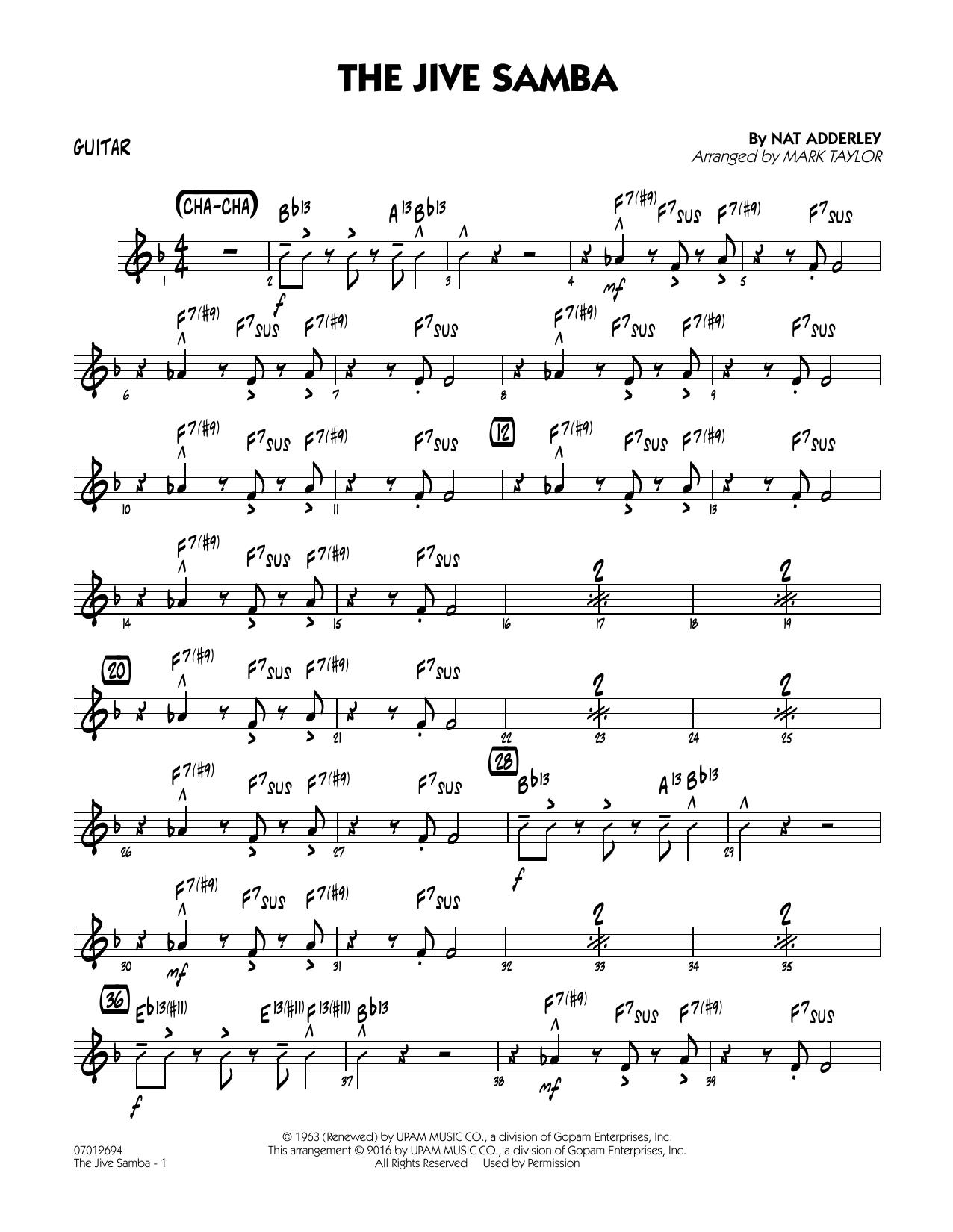 The Jive Samba - Guitar (Jazz Ensemble)