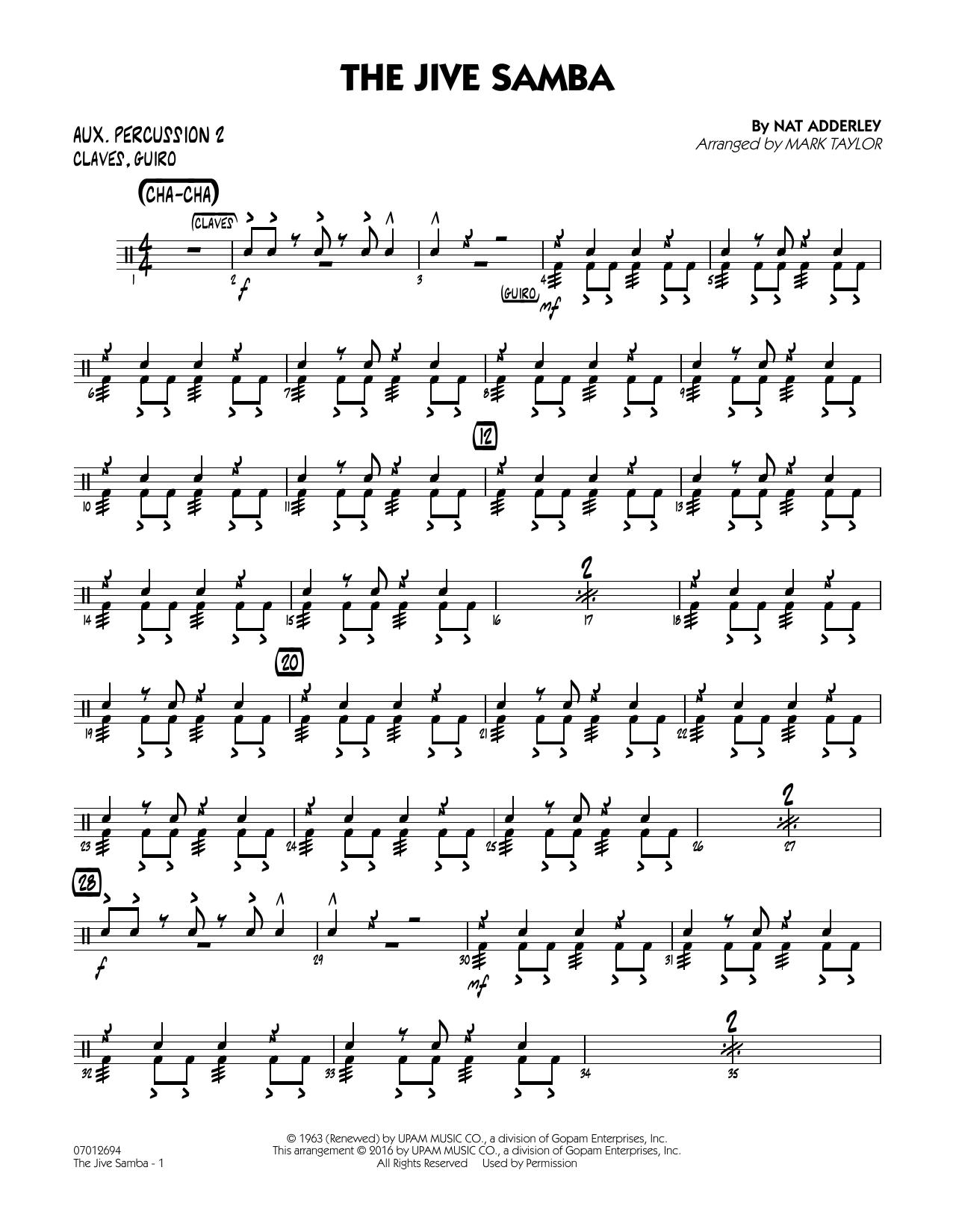 The Jive Samba - Aux. Percussion 2 (Jazz Ensemble)