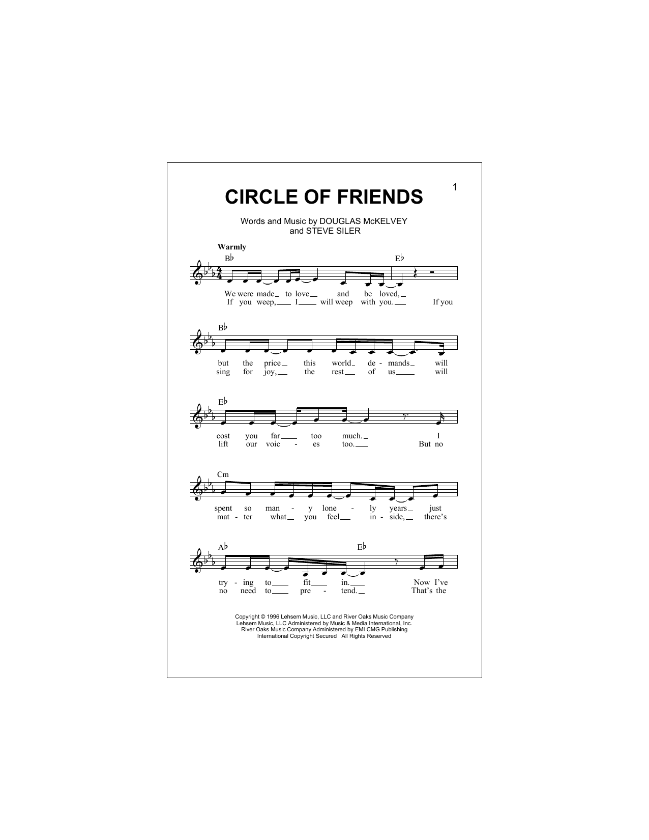 Circle Of Friends Sheet Music