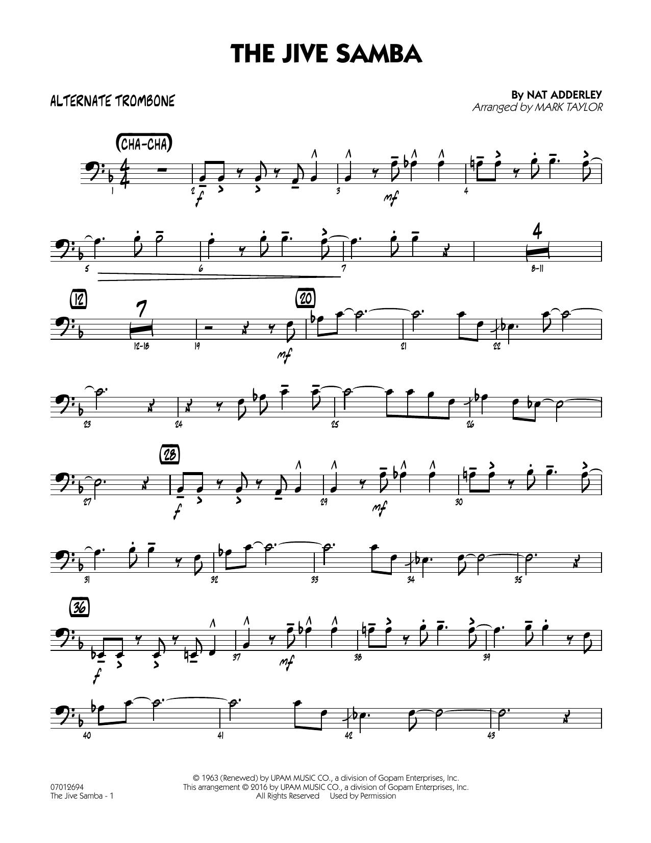 The Jive Samba - Alternate Trombone (Jazz Ensemble)
