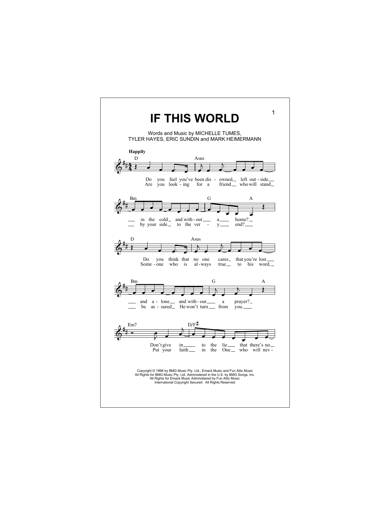 If This World Sheet Music
