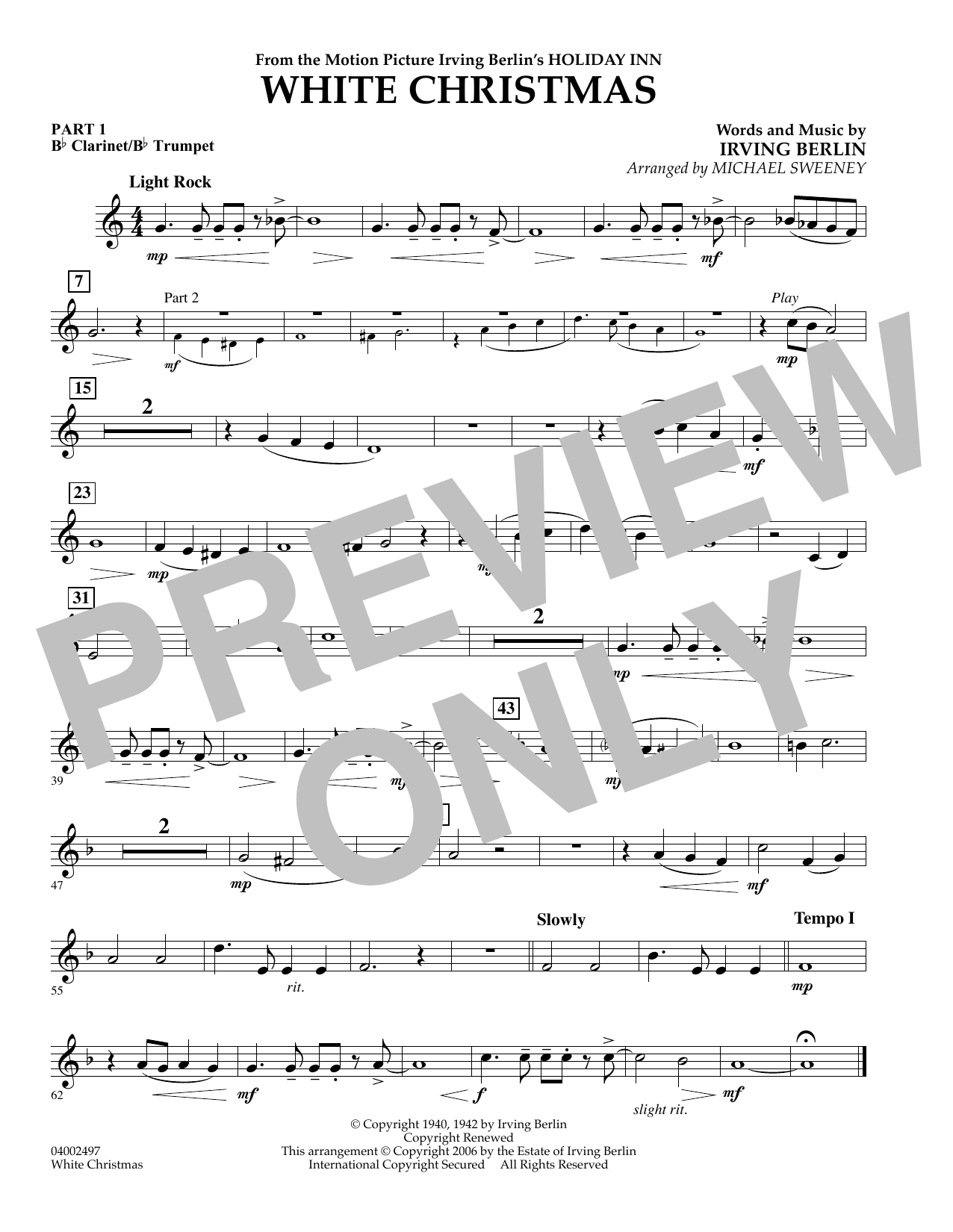 page one of White Christmas (Flex-Band) - Pt.1 - Bb Clarinet/Bb TrumpetASALTTEXT