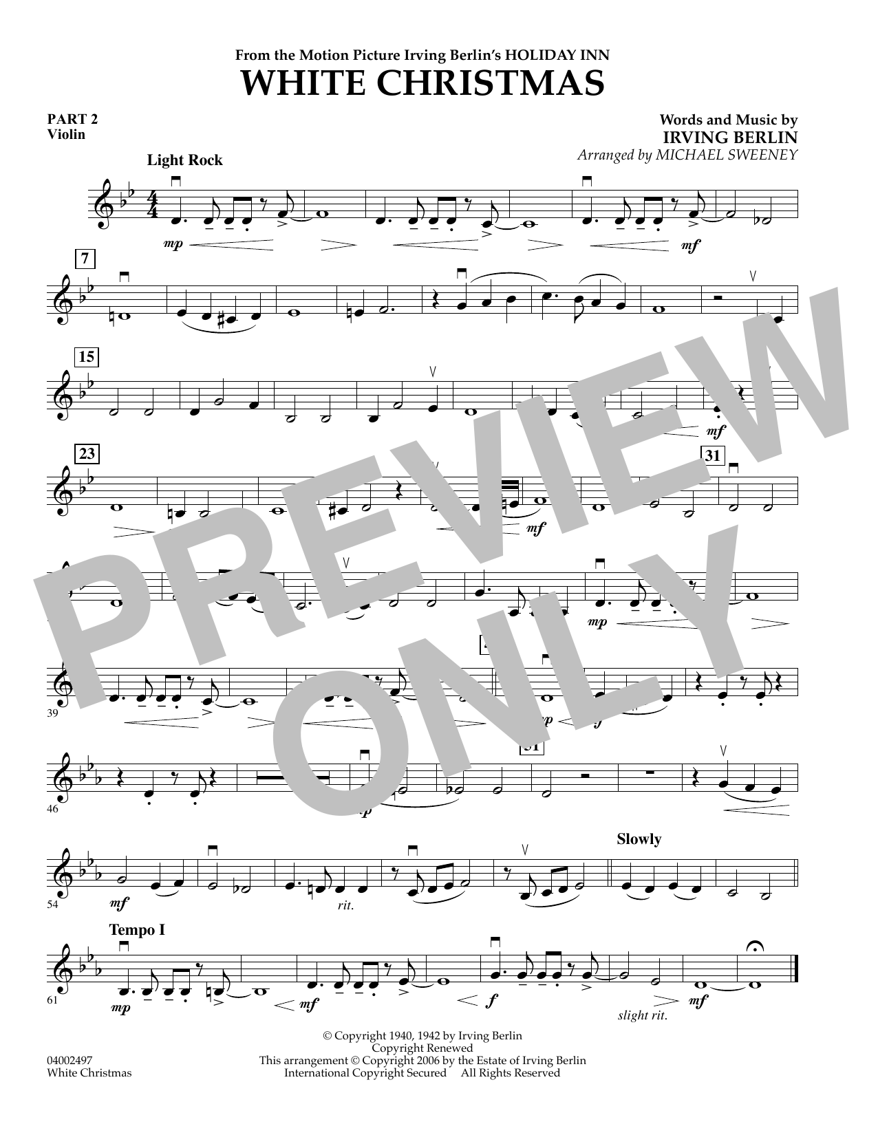 page one of White Christmas (Flex-Band) - Pt.2 - ViolinASALTTEXT