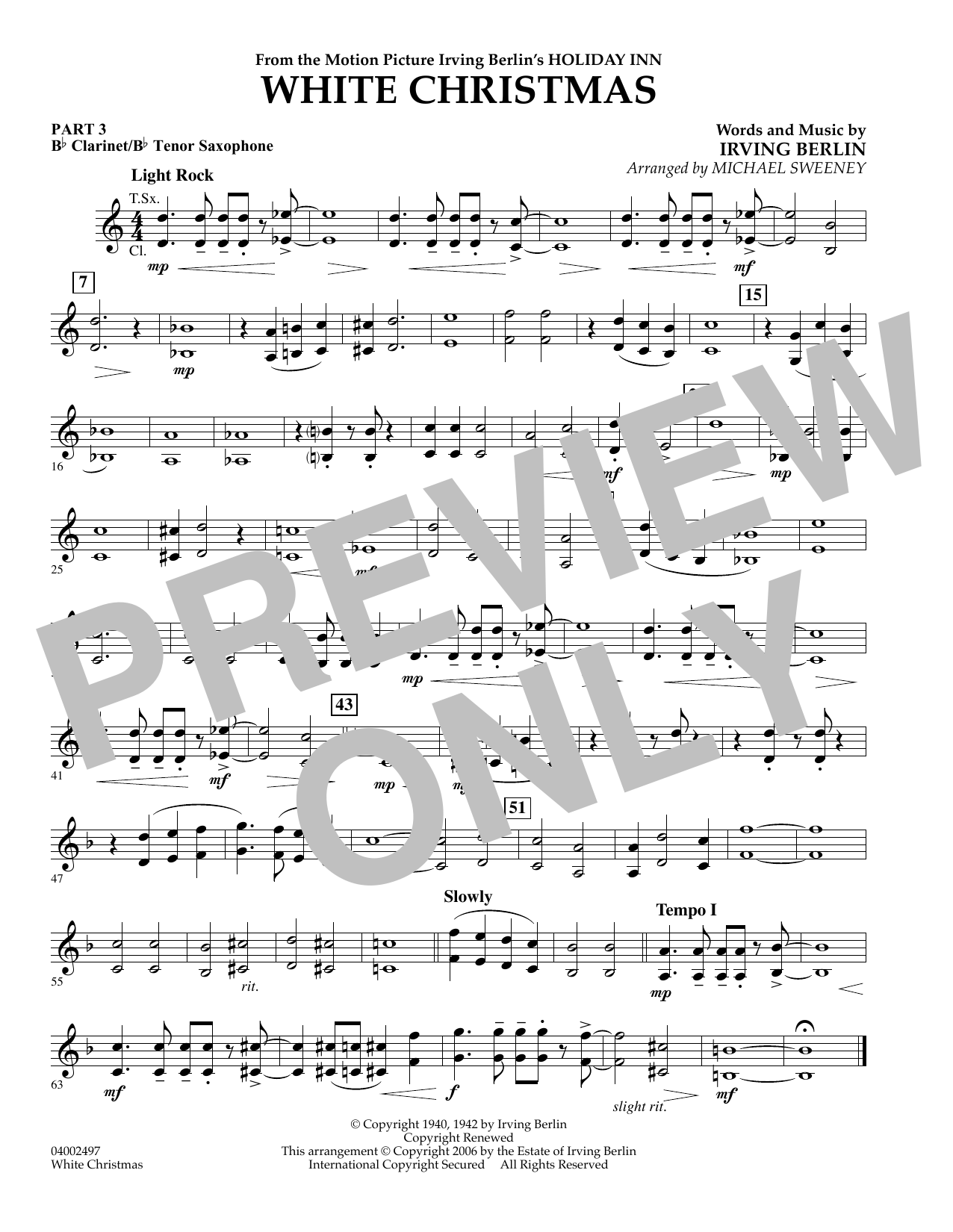 White Christmas - Score & Parts Sheet Music by Irving Berlin - Hal ...