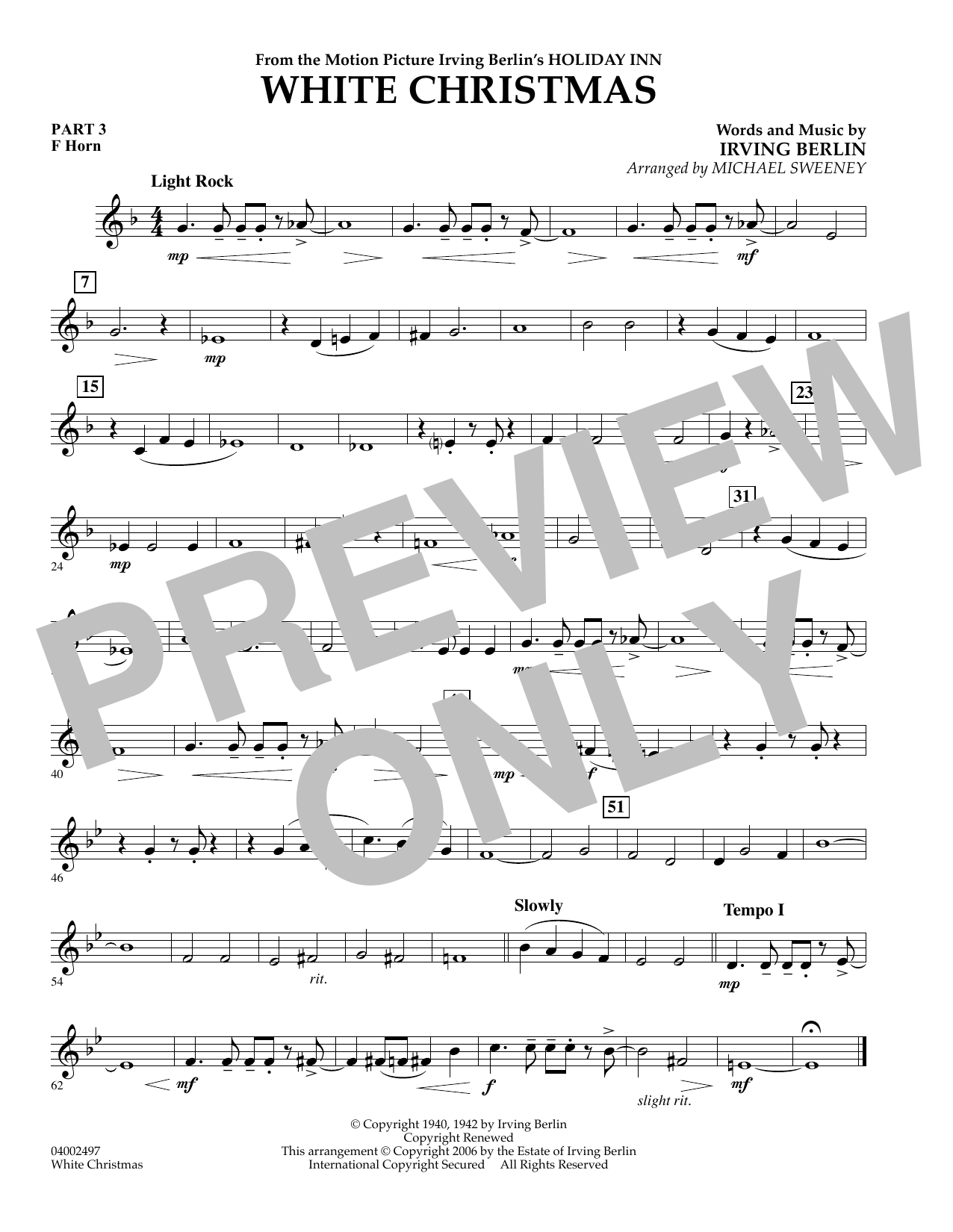 page one of White Christmas (Flex-Band) - Pt.3 - F HornASALTTEXT