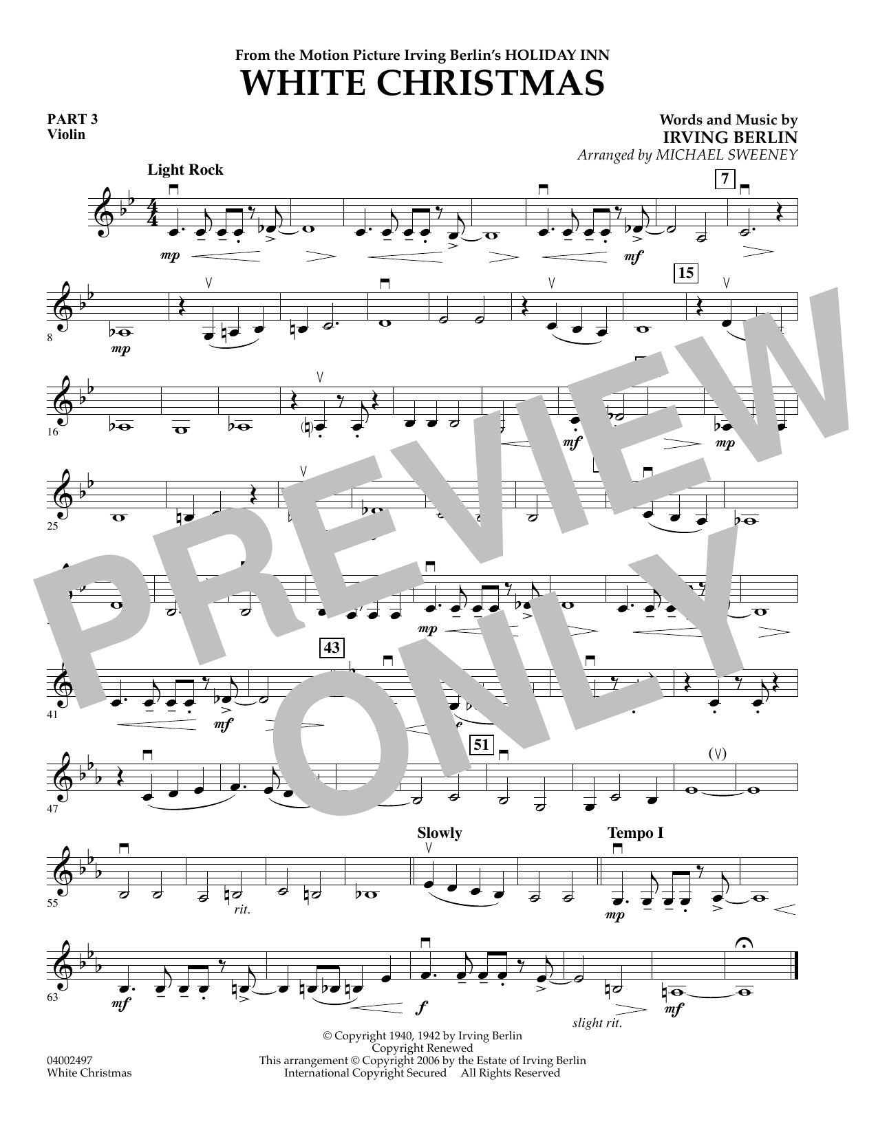 page one of White Christmas (Flex-Band) - Pt.3 - ViolinASALTTEXT