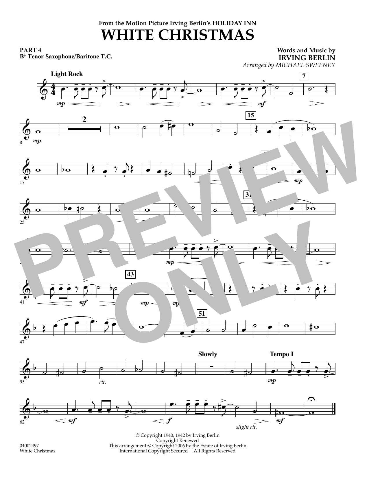 page one of White Christmas (Flex-Band) - Pt.4 - Bb Tenor SaxophoneASALTTEXT