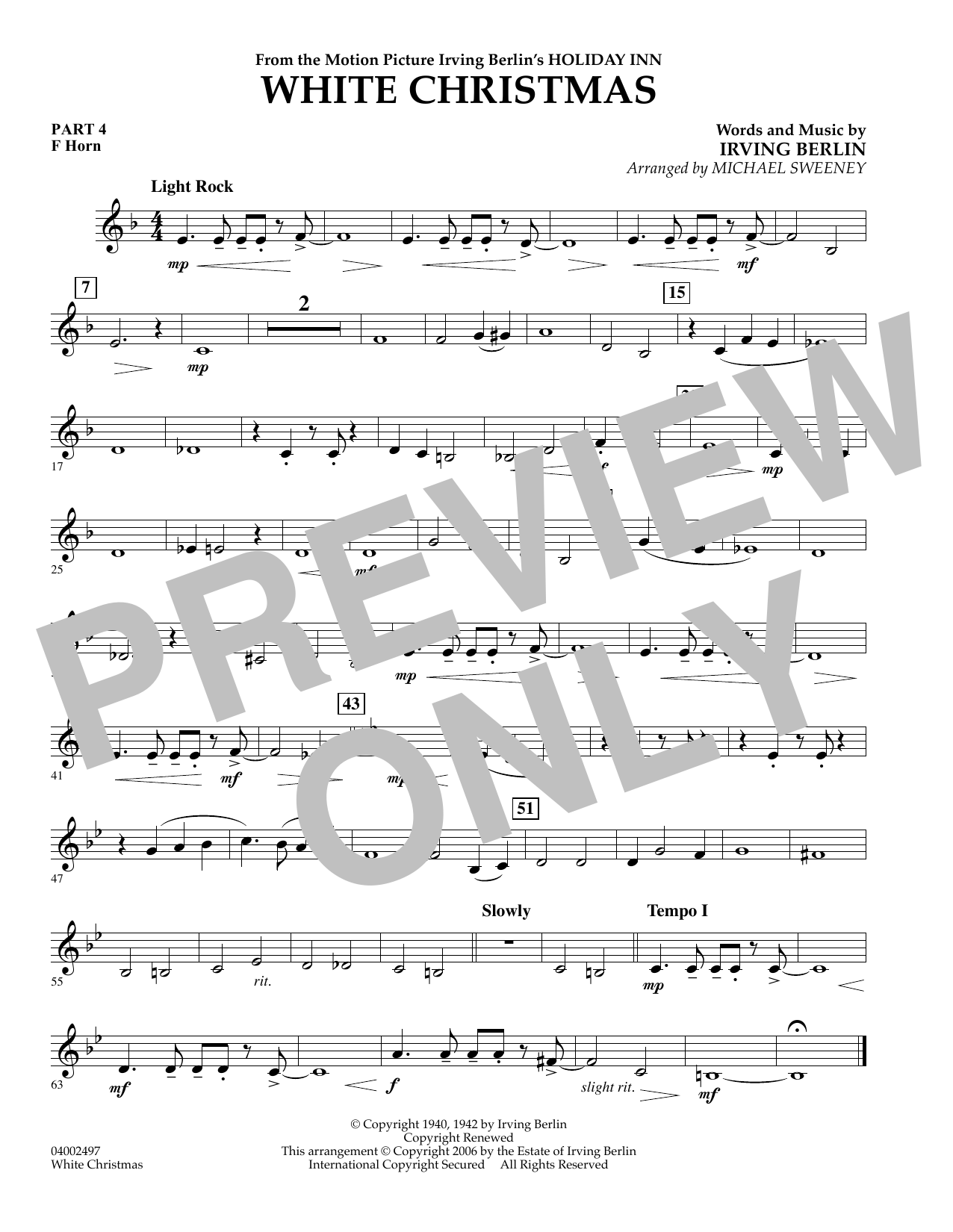 page one of White Christmas (Flex-Band) - Pt.4 - F HornASALTTEXT