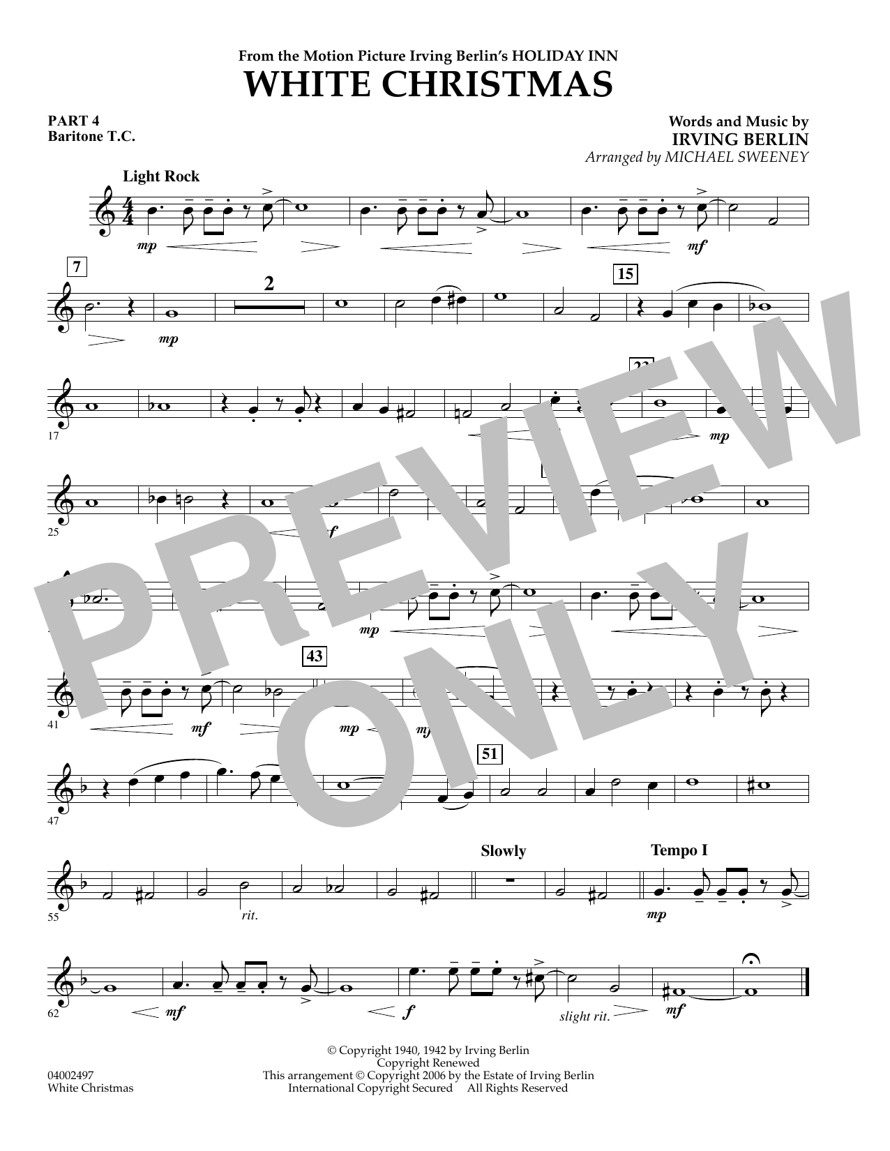 page one of White Christmas (Flex-Band) - Pt.4 - Baritone T.C.ASALTTEXT