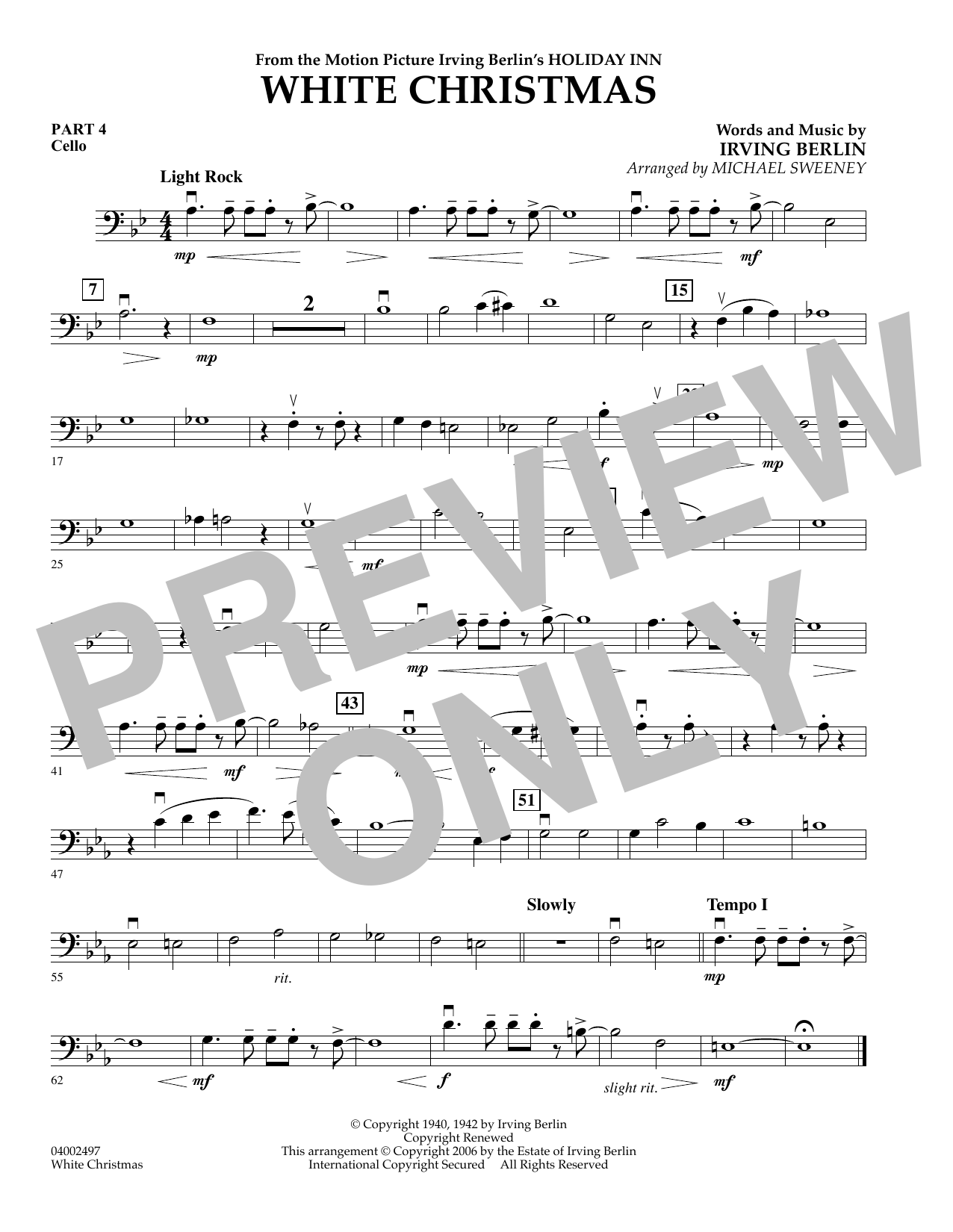 page one of White Christmas (Flex-Band) - Pt.4 - CelloASALTTEXT