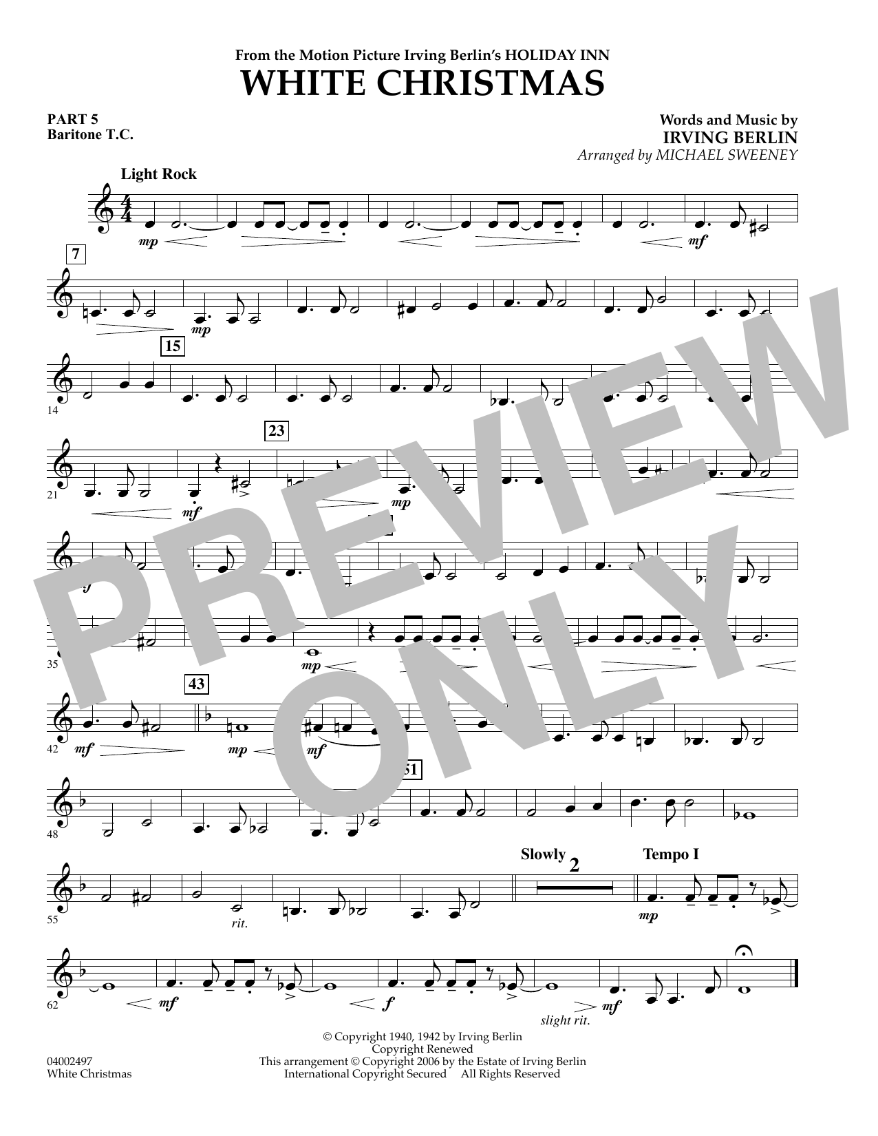 page one of White Christmas (Flex-Band) - Pt.5 - Baritone T.C.ASALTTEXT