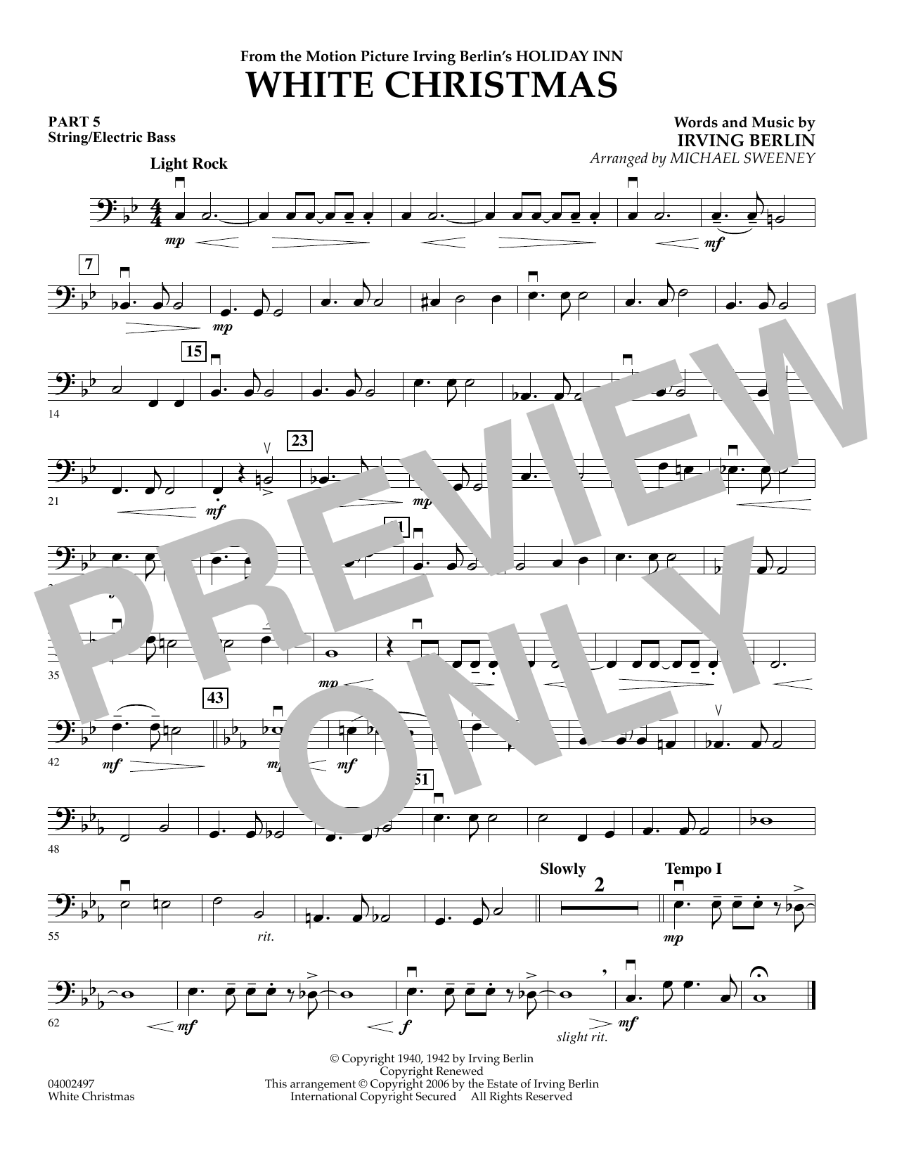 White Christmas (Flex-Band) - Pt.5 - String/Electric Bass (Concert Band)