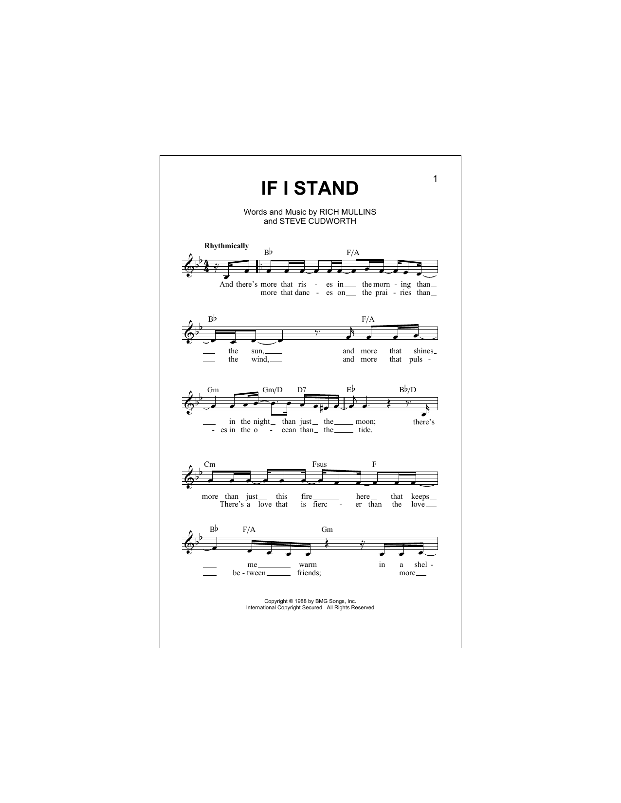 If I Stand Sheet Music