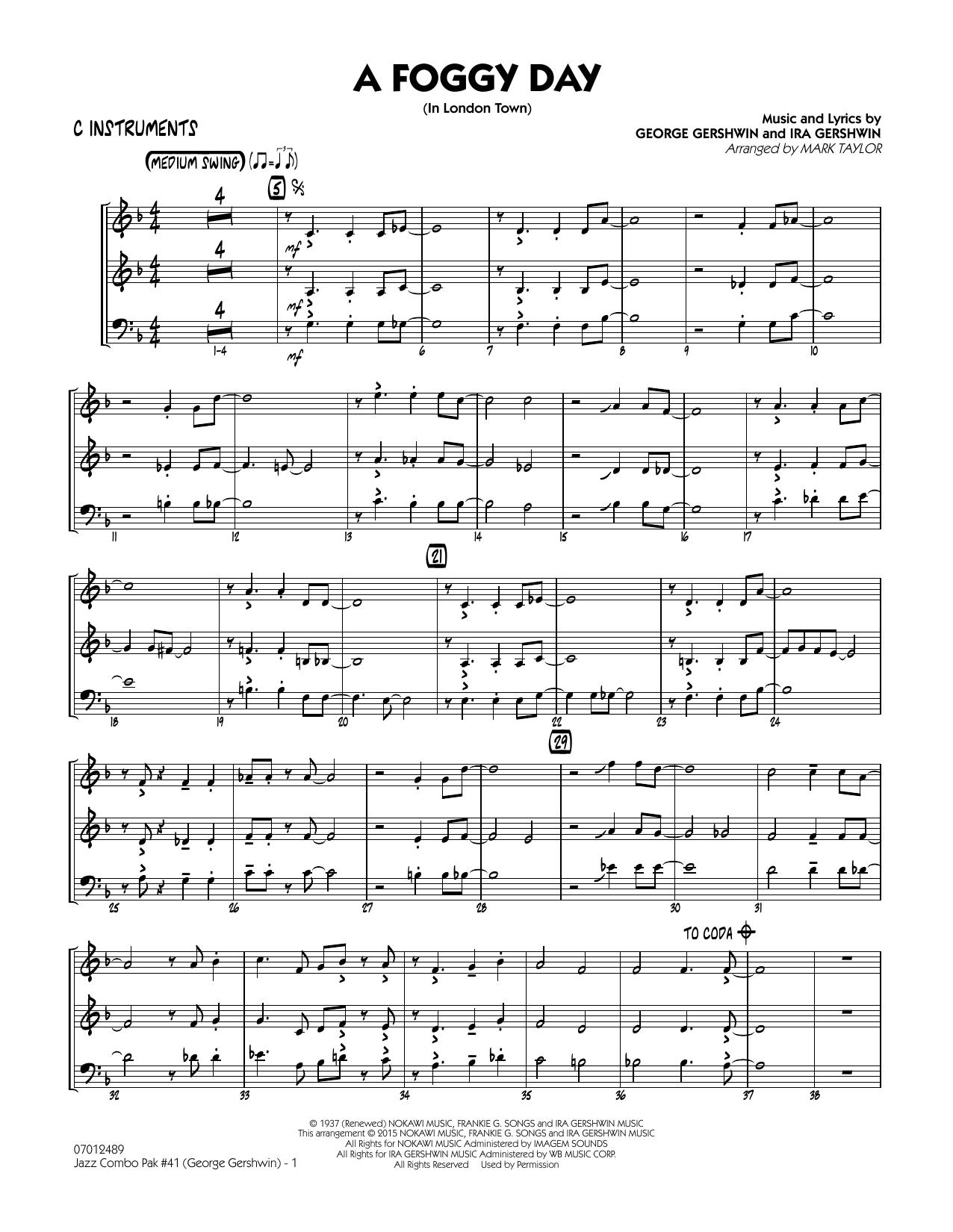 Jazz Combo Pak #41 (George Gershwin) - C Instruments (Jazz Ensemble)