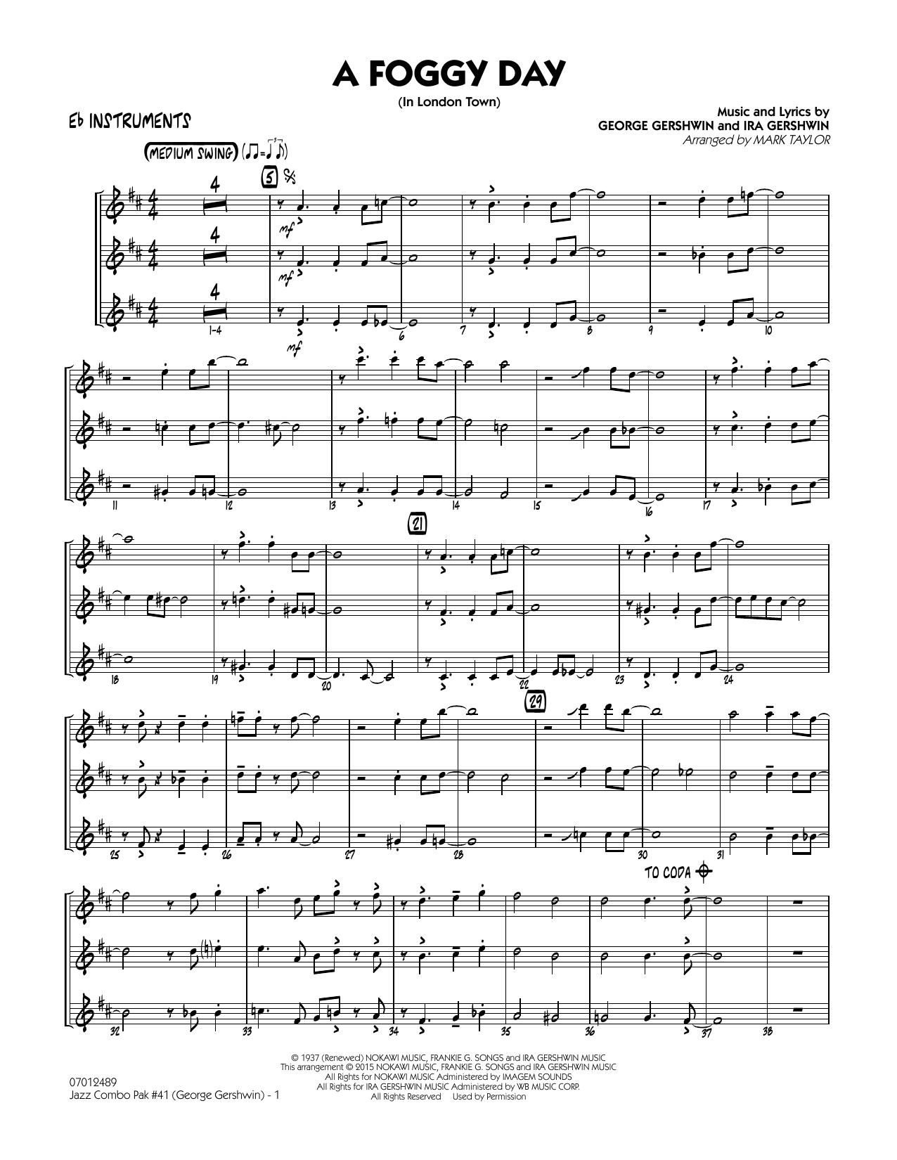 Jazz Combo Pak #41 (George Gershwin) - Eb Instruments (Jazz Ensemble)