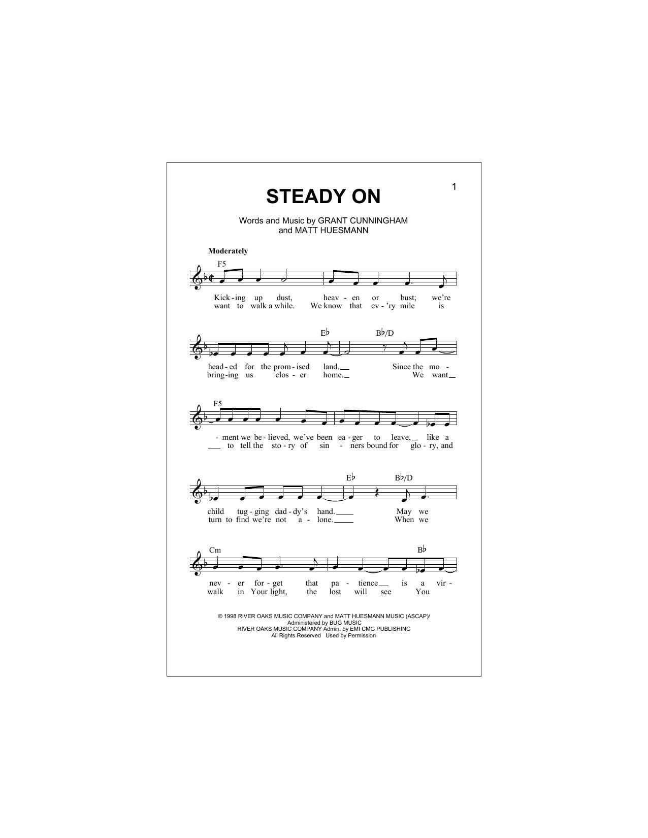 Steady On Sheet Music