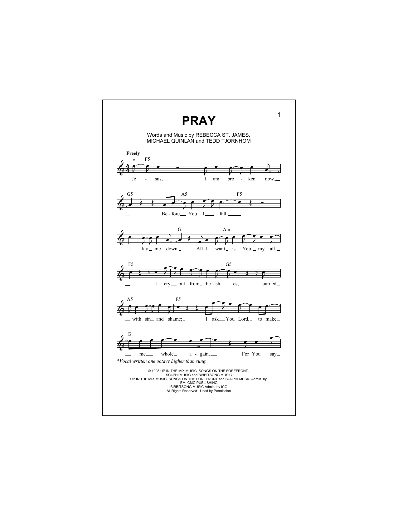 Pray Sheet Music