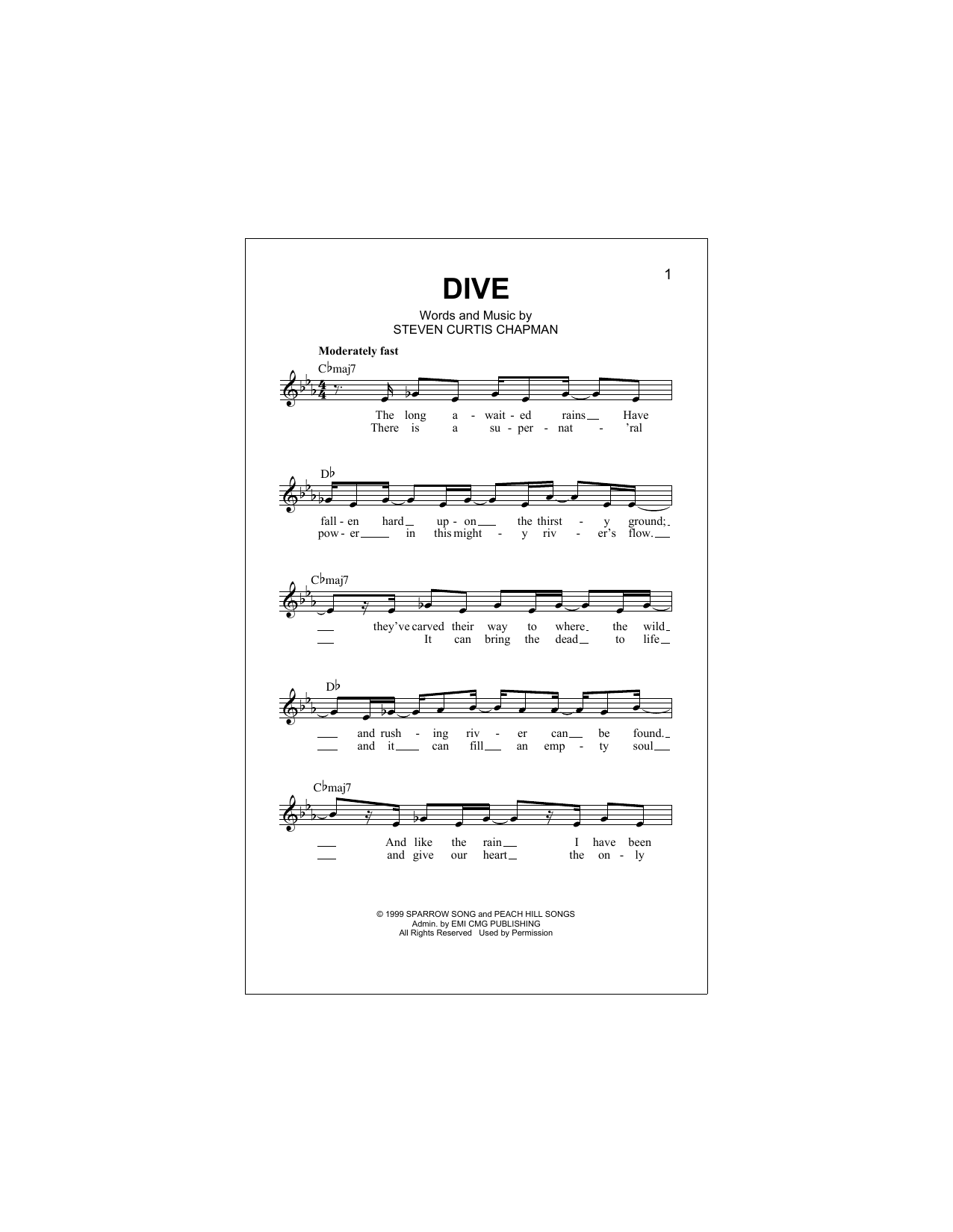 Dive Sheet Music
