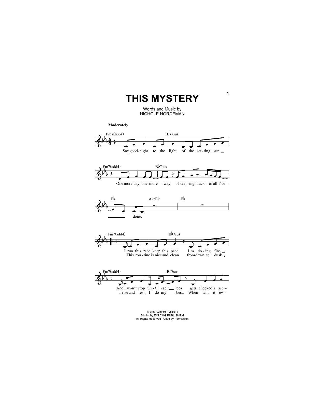 This Mystery Sheet Music