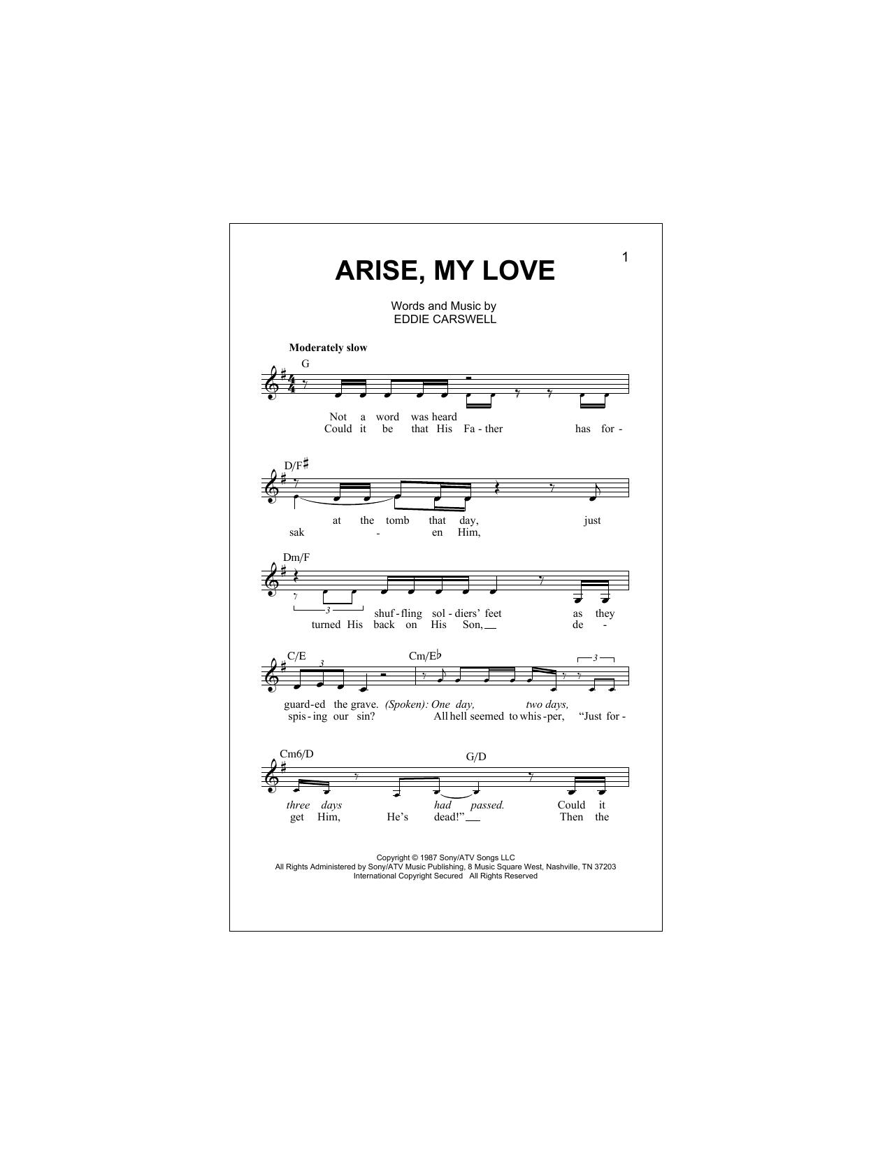 Arise, My Love Sheet Music