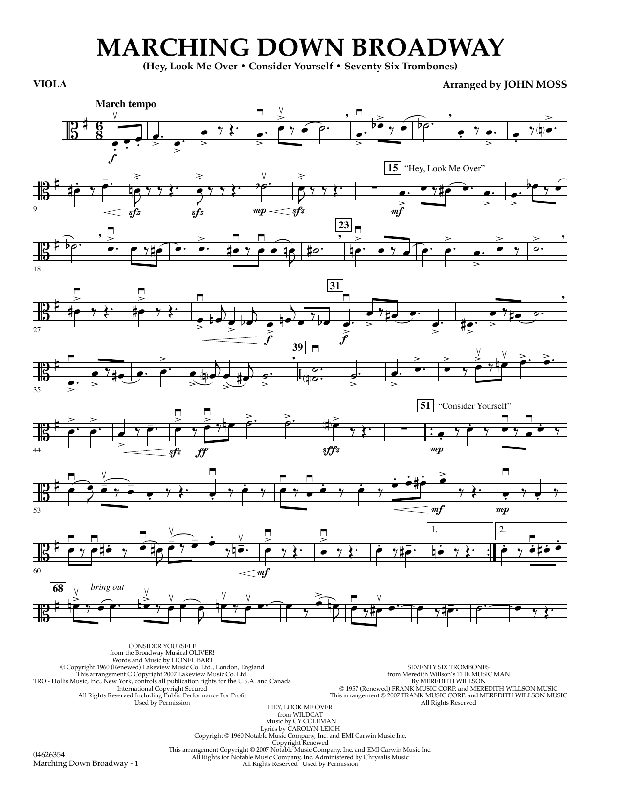 Marching Down Broadway - Viola (Orchestra)