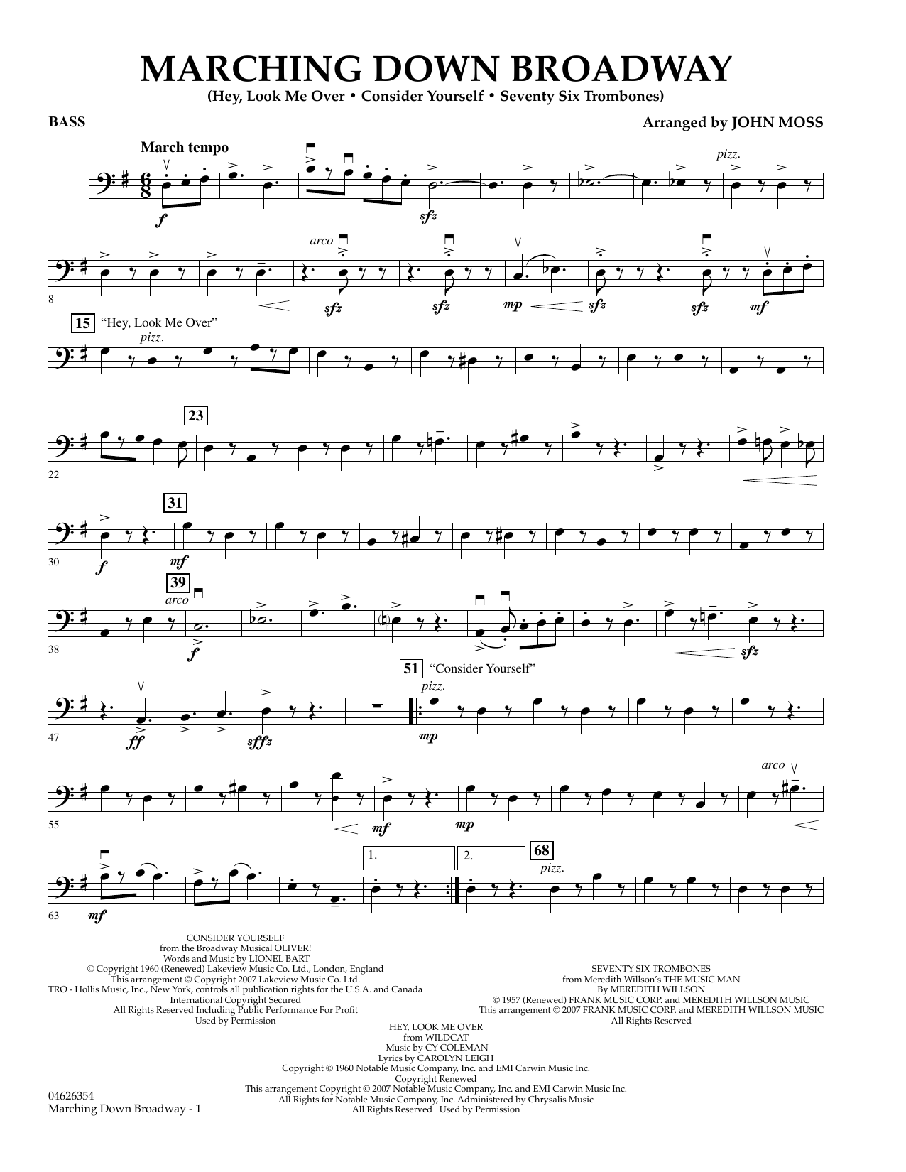 Marching Down Broadway - Bass (Orchestra)