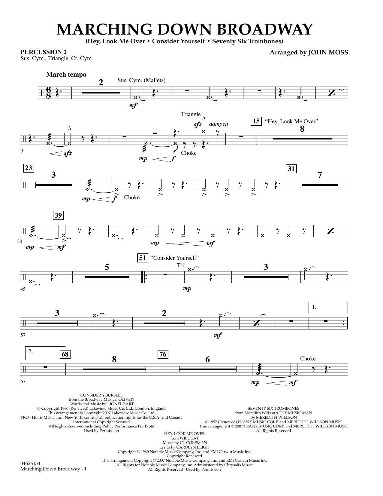 Marching Down Broadway - Percussion 2 (Orchestra)