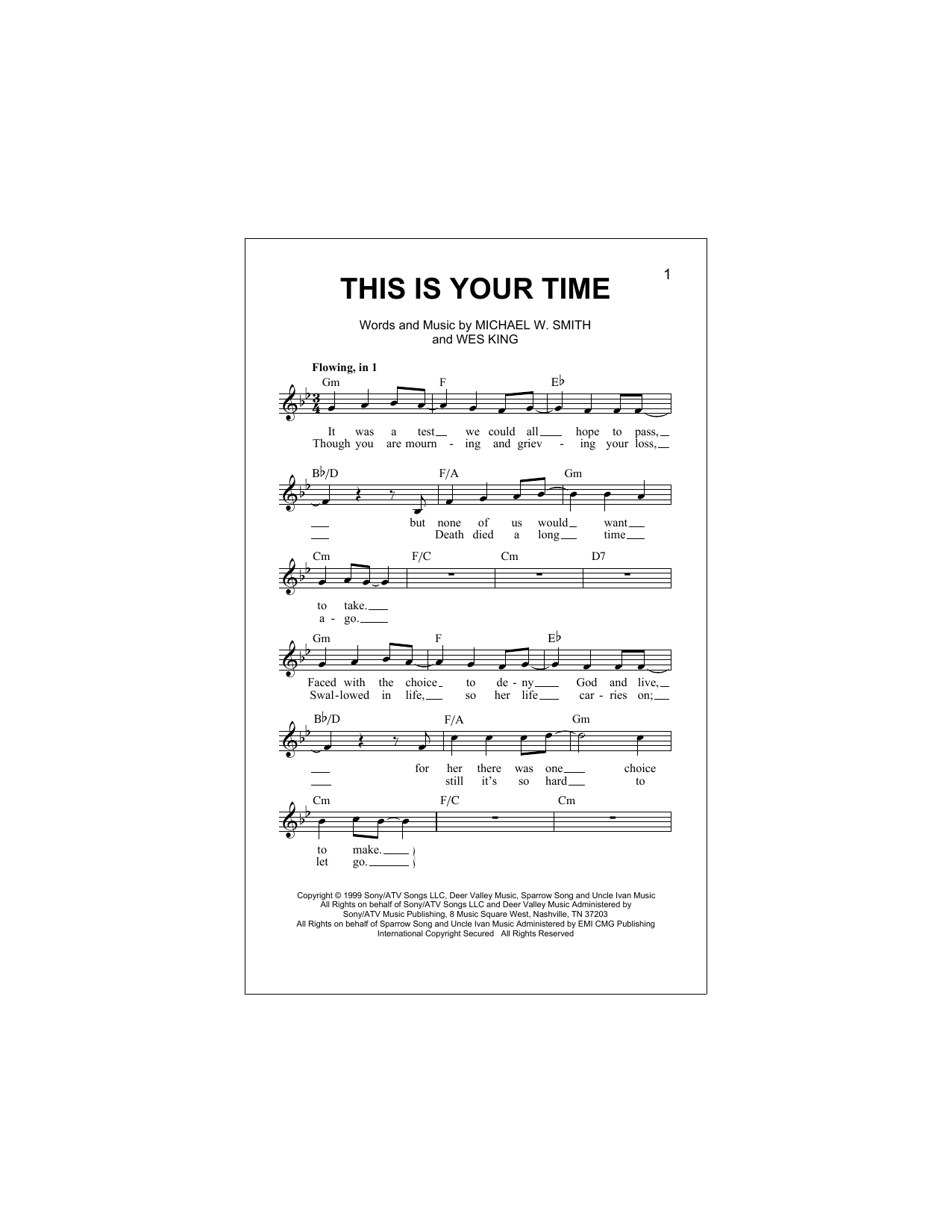 This Is Your Time Sheet Music