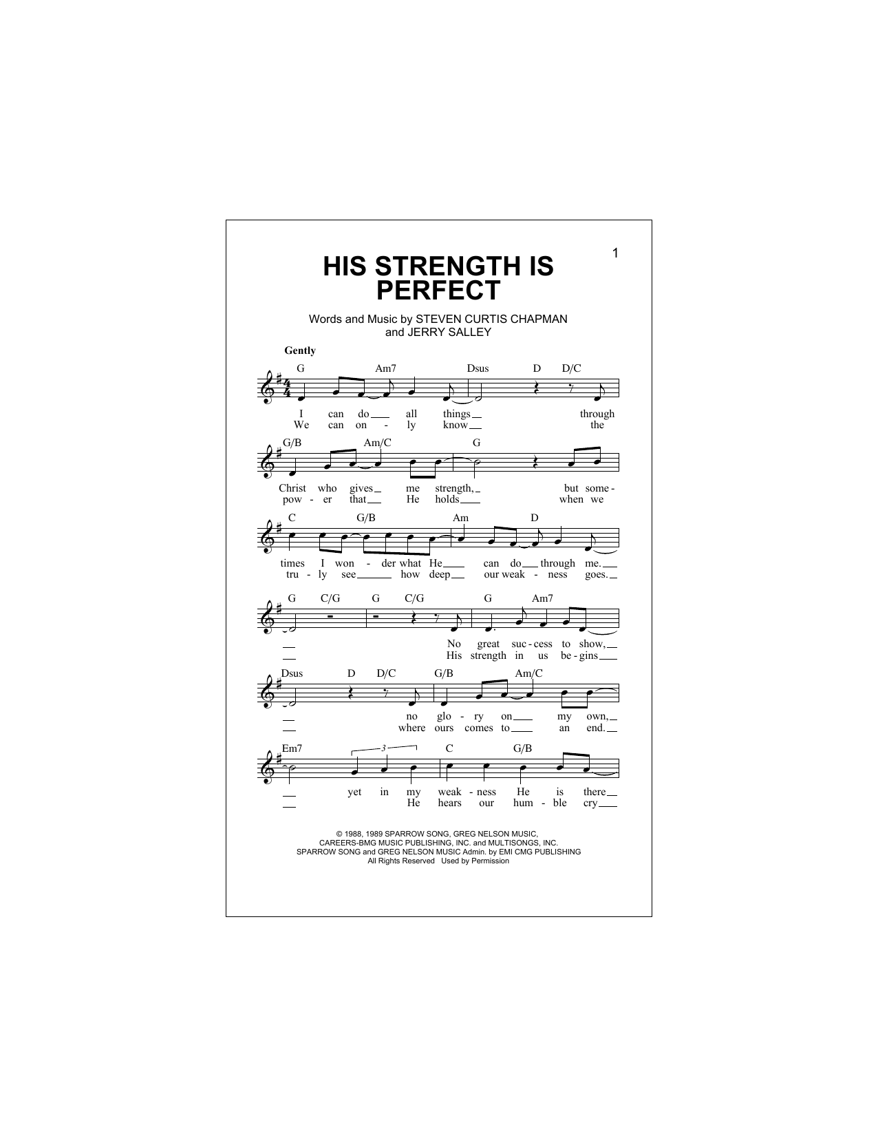 His Strength Is Perfect Sheet Music