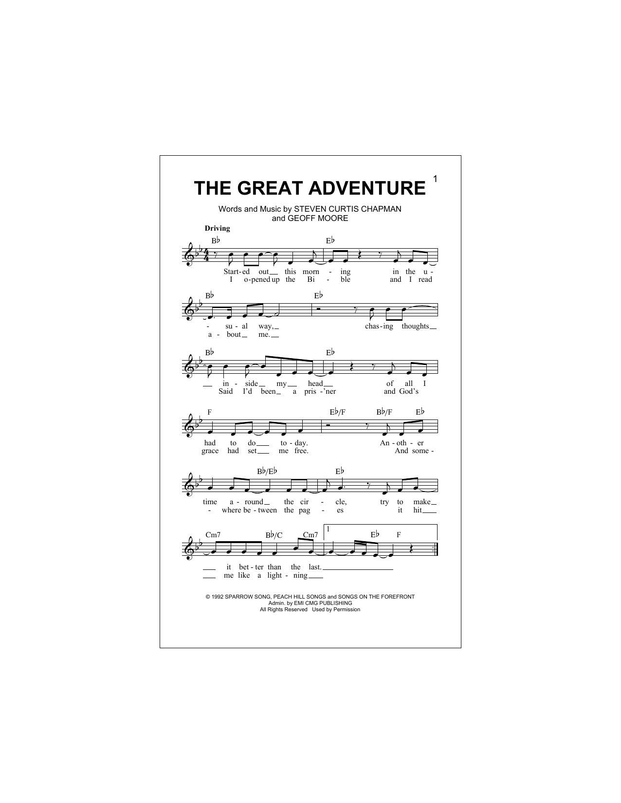 The Great Adventure Digitale Noten