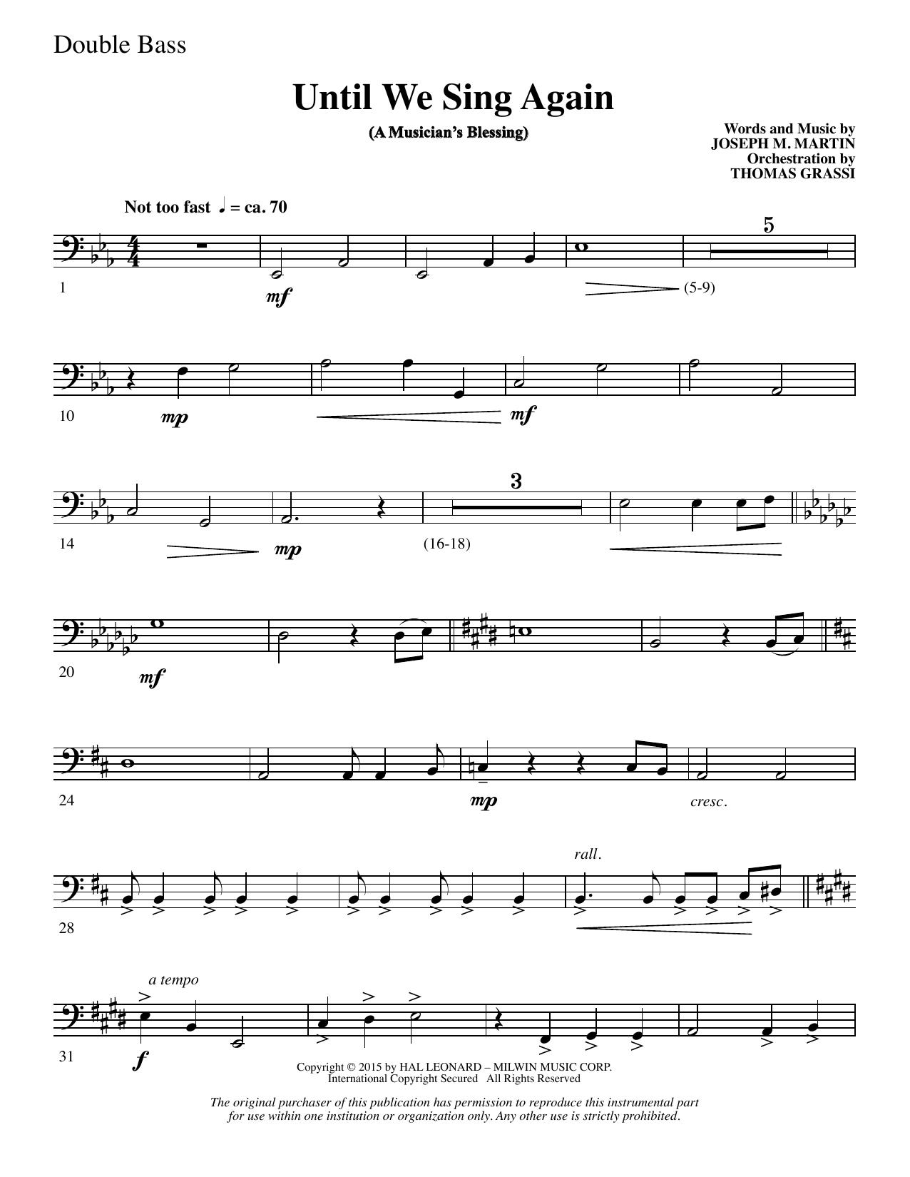 Until We Sing Again - Double Bass (Choir Instrumental Pak)