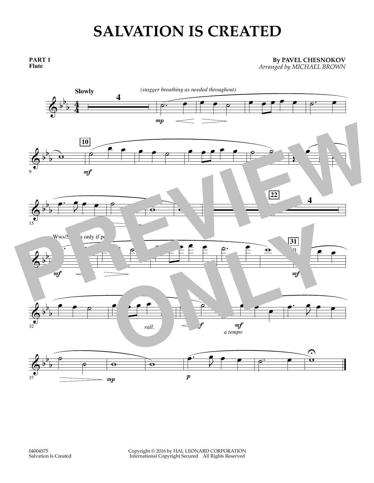 Salvation Is Created - Pt.1 - Flute (Flex-Band)