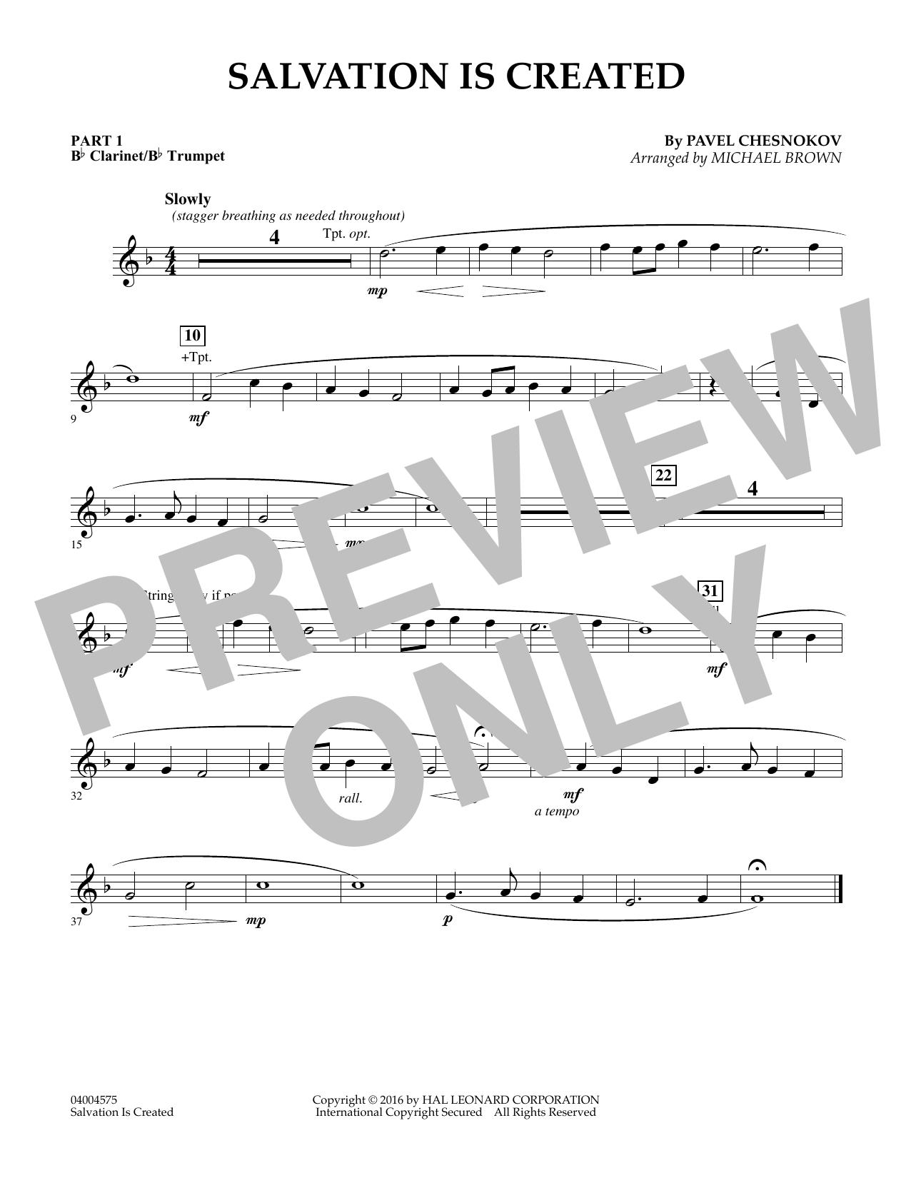 Salvation Is Created - Pt.1 - Bb Clarinet/Bb Trumpet (Flex-Band)