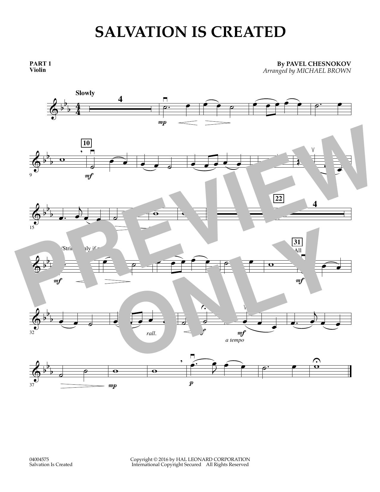 Salvation Is Created - Pt.1 - Violin (Flex-Band)