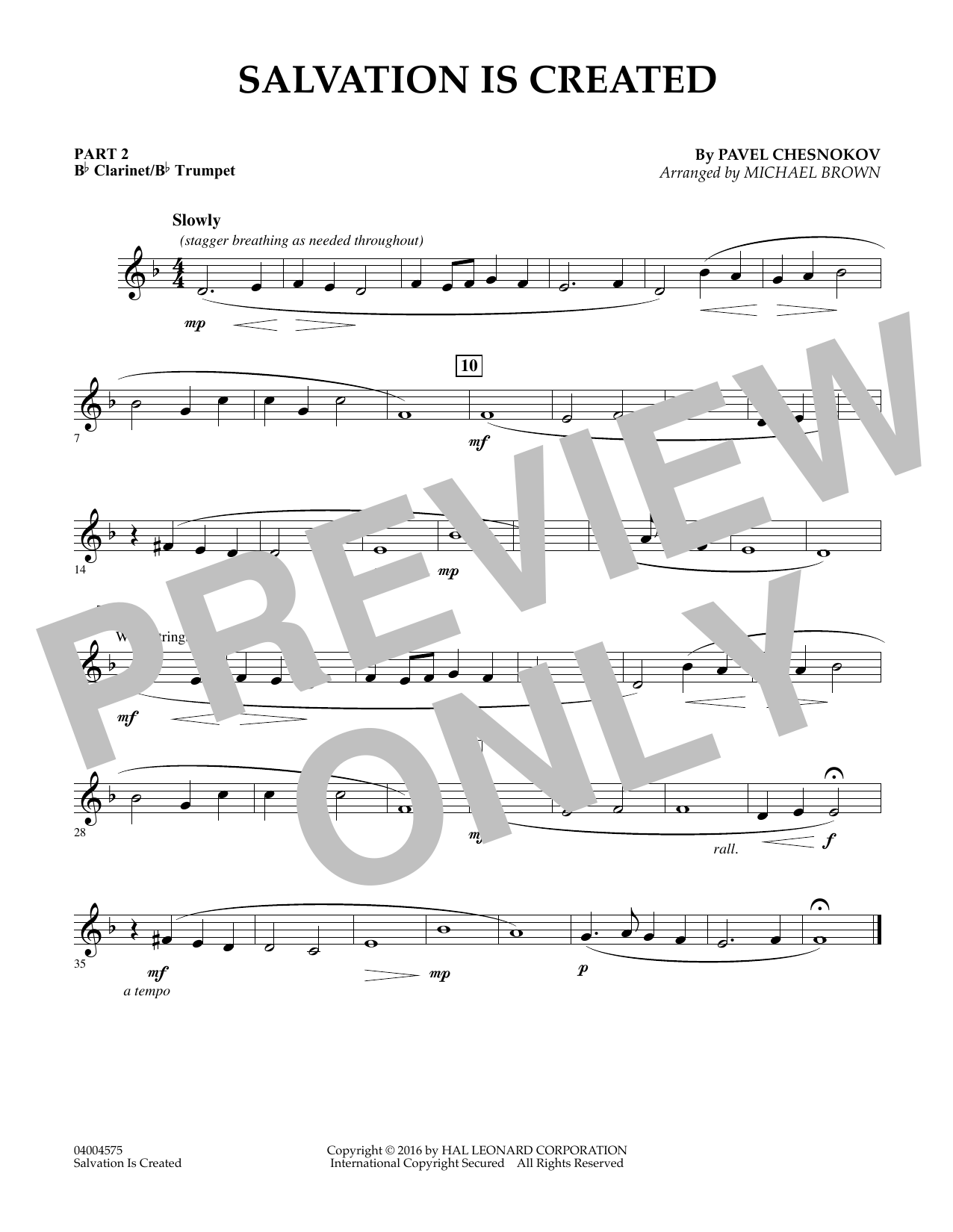 Salvation Is Created - Pt.2 - Bb Clarinet/Bb Trumpet (Flex-Band)