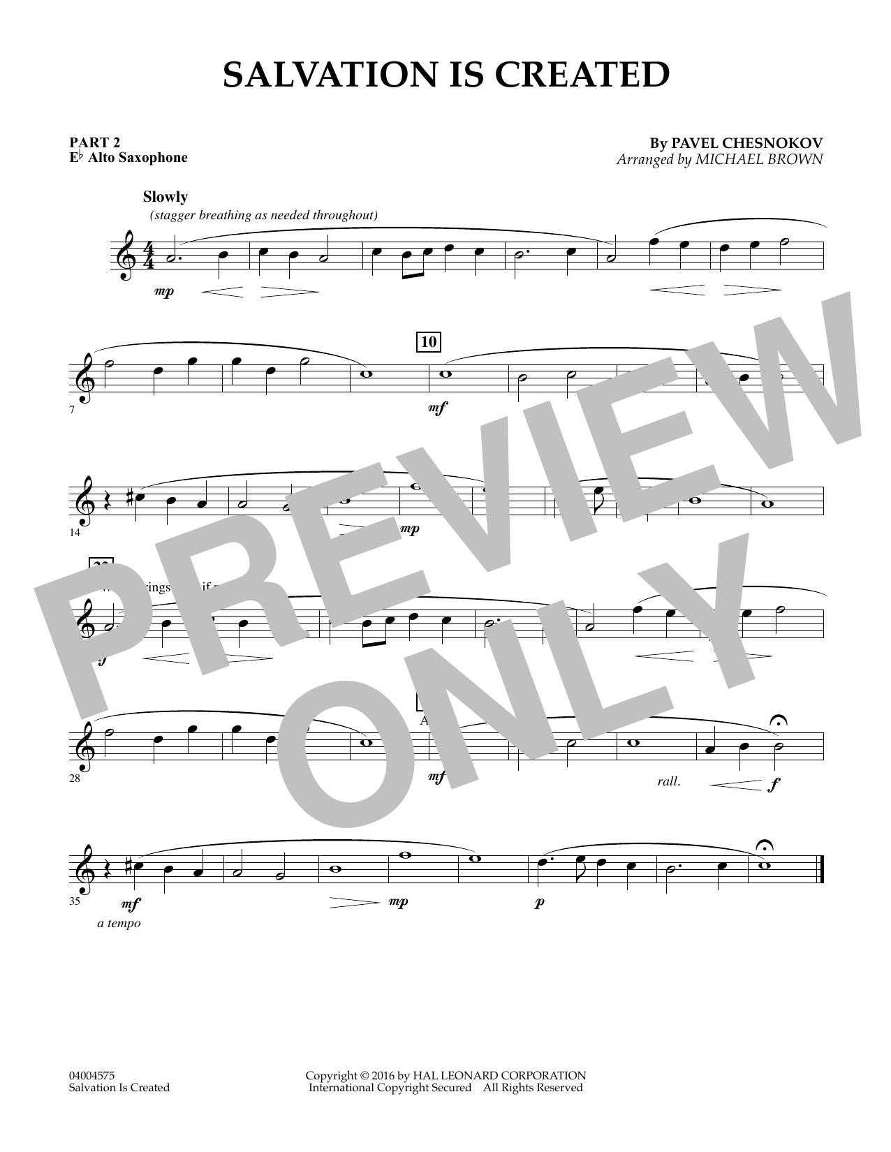 Salvation Is Created - Pt.2 - Eb Alto Saxophone (Flex-Band)